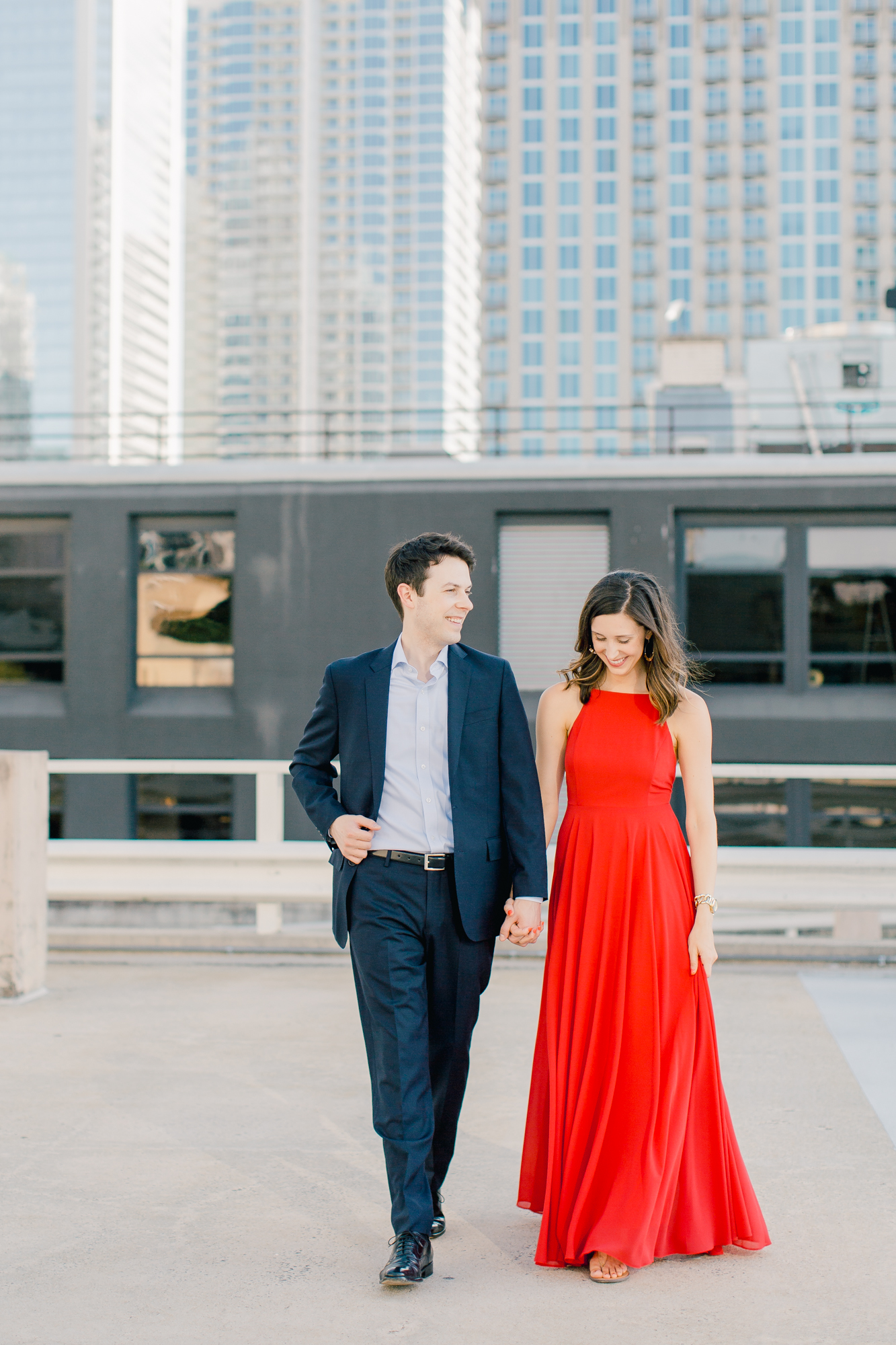 engagement session uptown charlotte nc