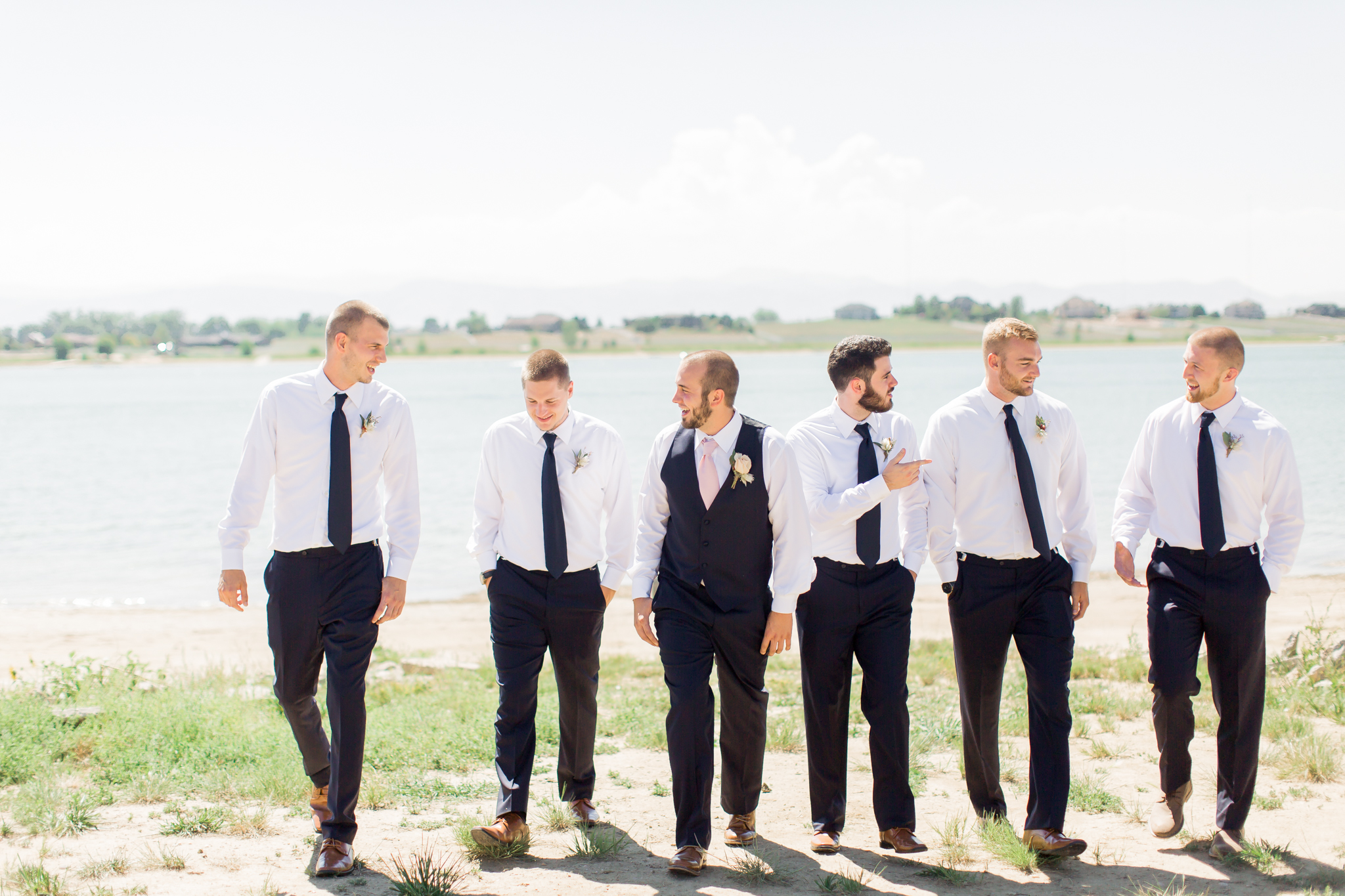 groom with groomsmen colorado wedding