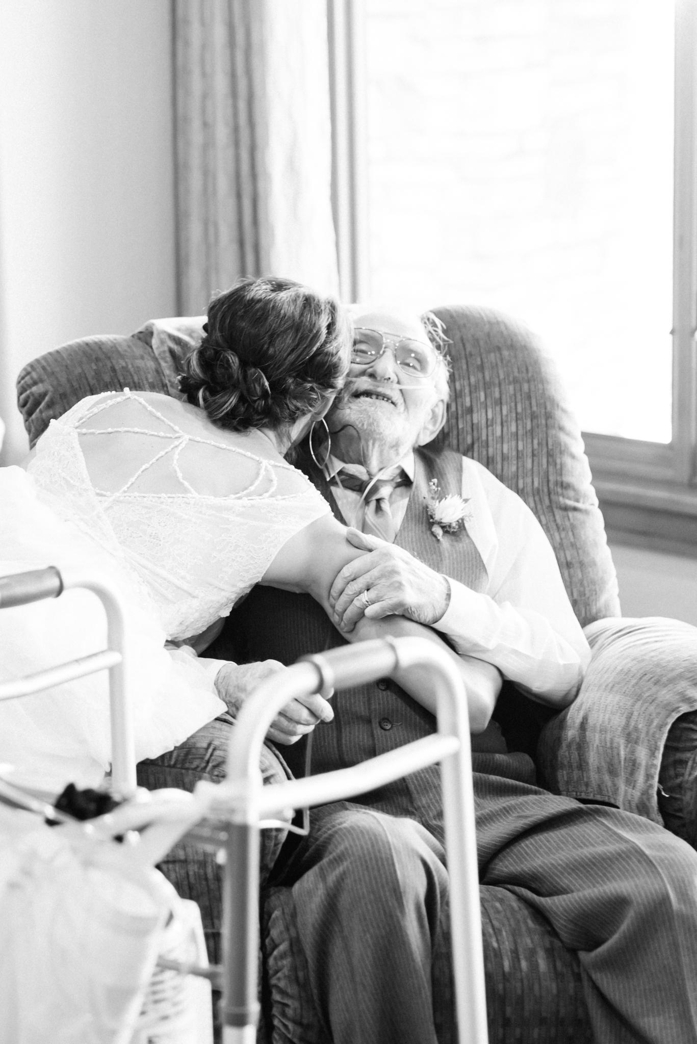 bride with grandpa