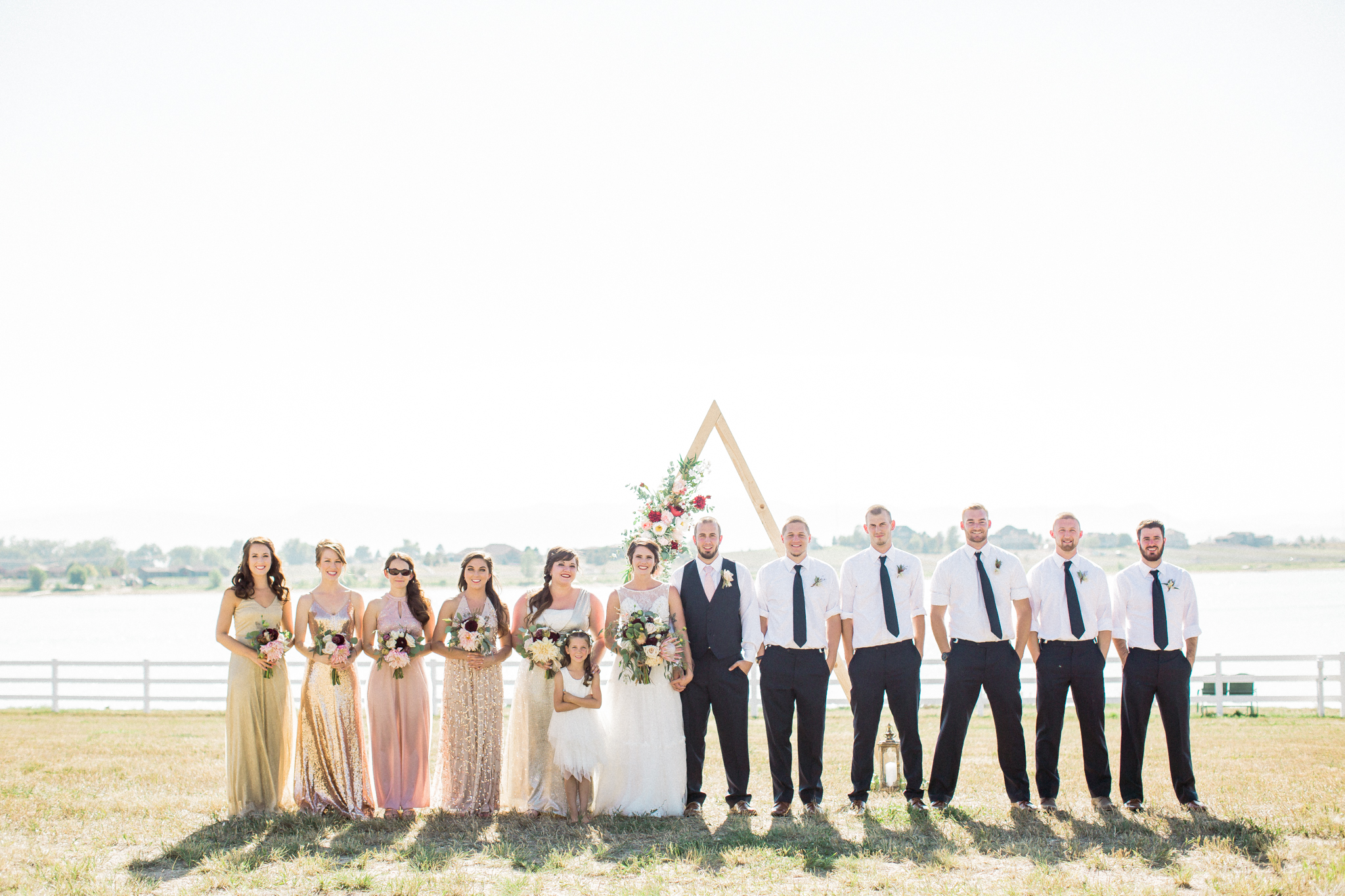 bridal party colorado wedding