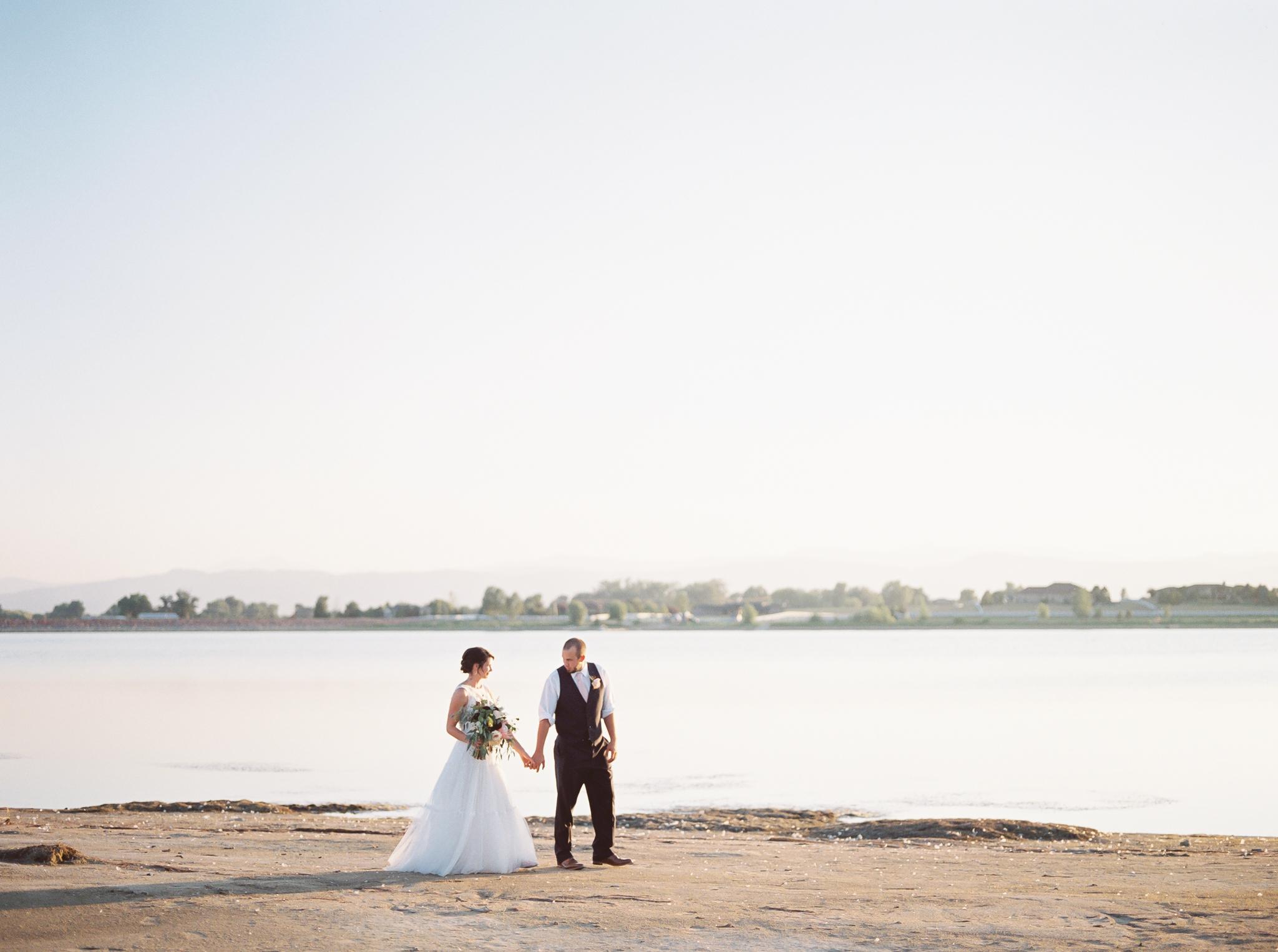 bride and groom fort collins colorado wedding