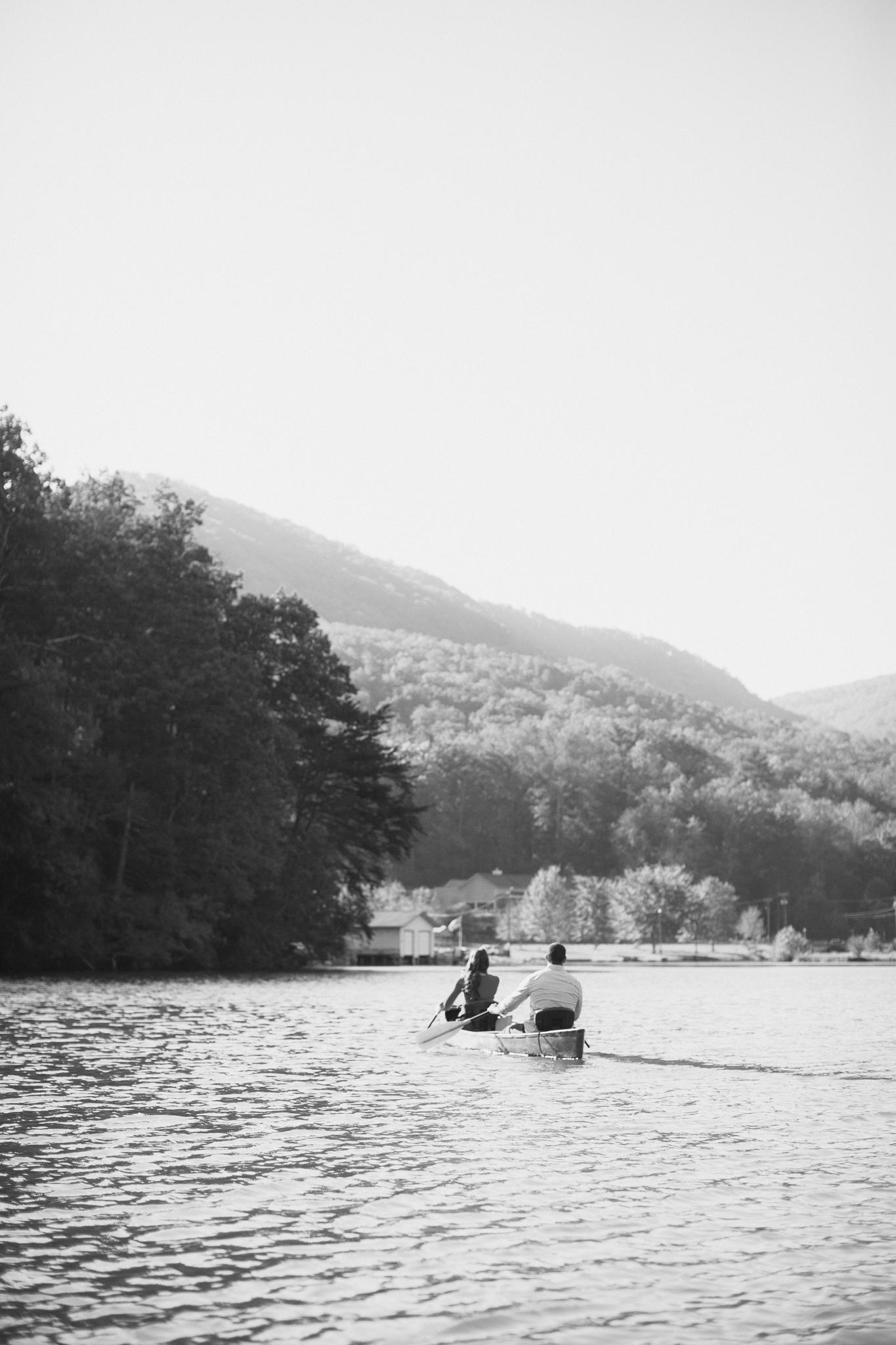 lake lure canoe engagement