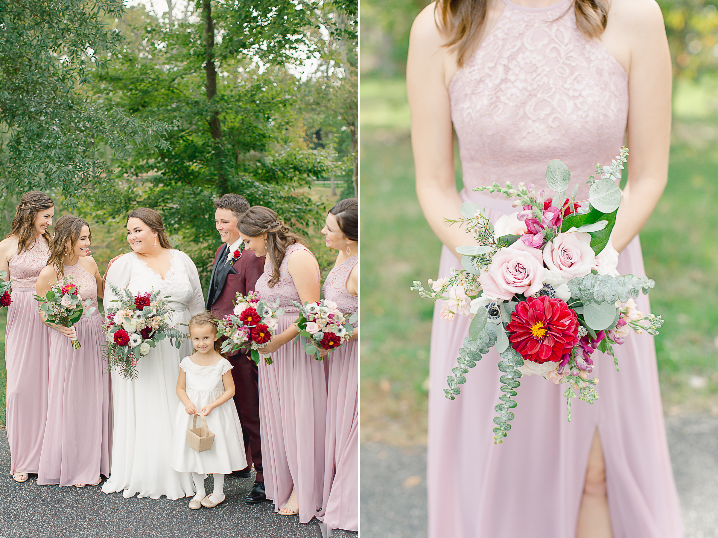 bridesmaids fall colors