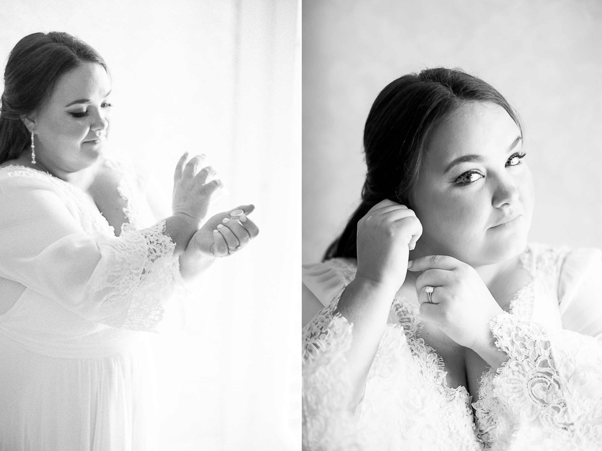 bride in black and white
