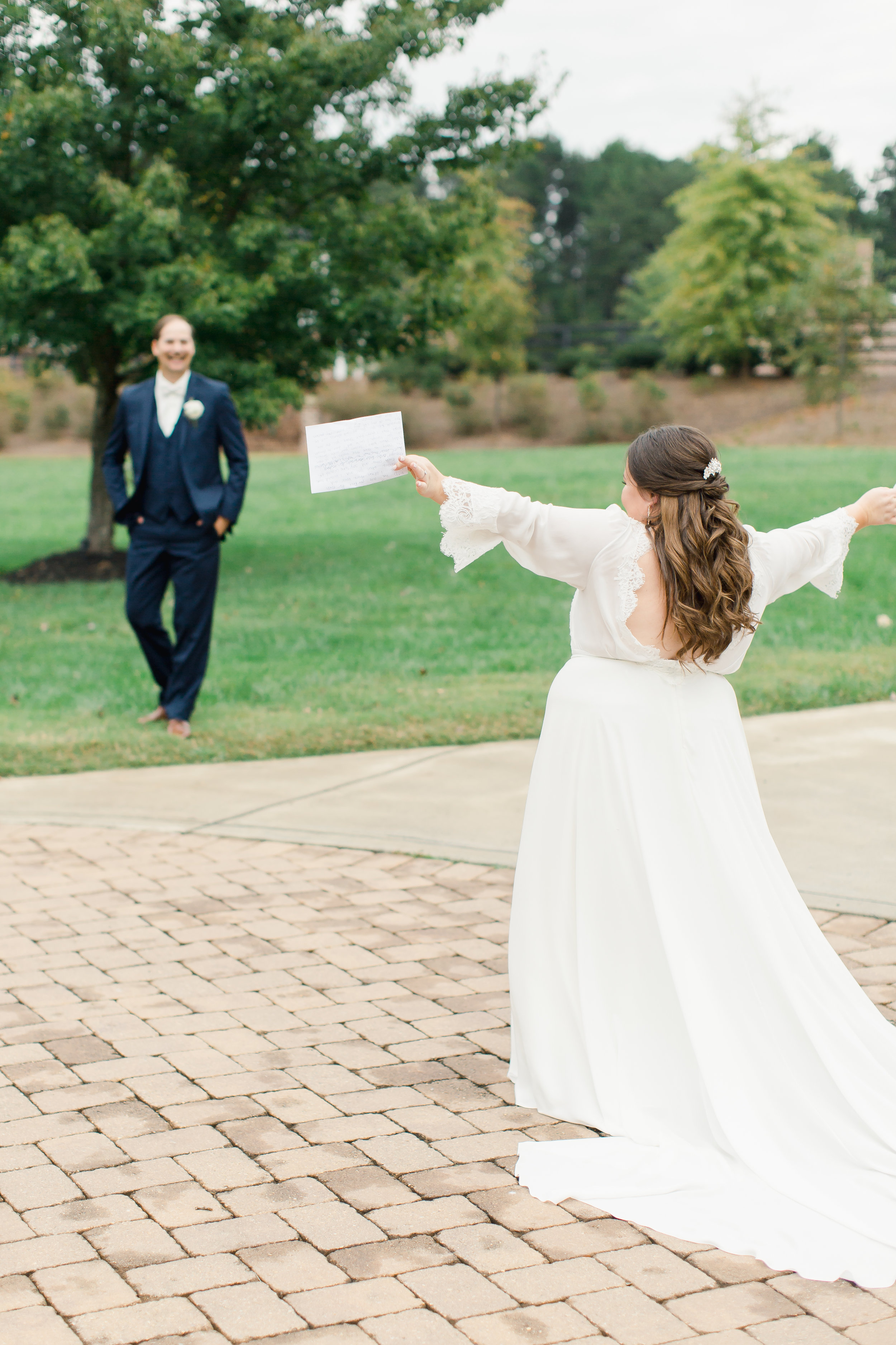 first look at nc wedding venue