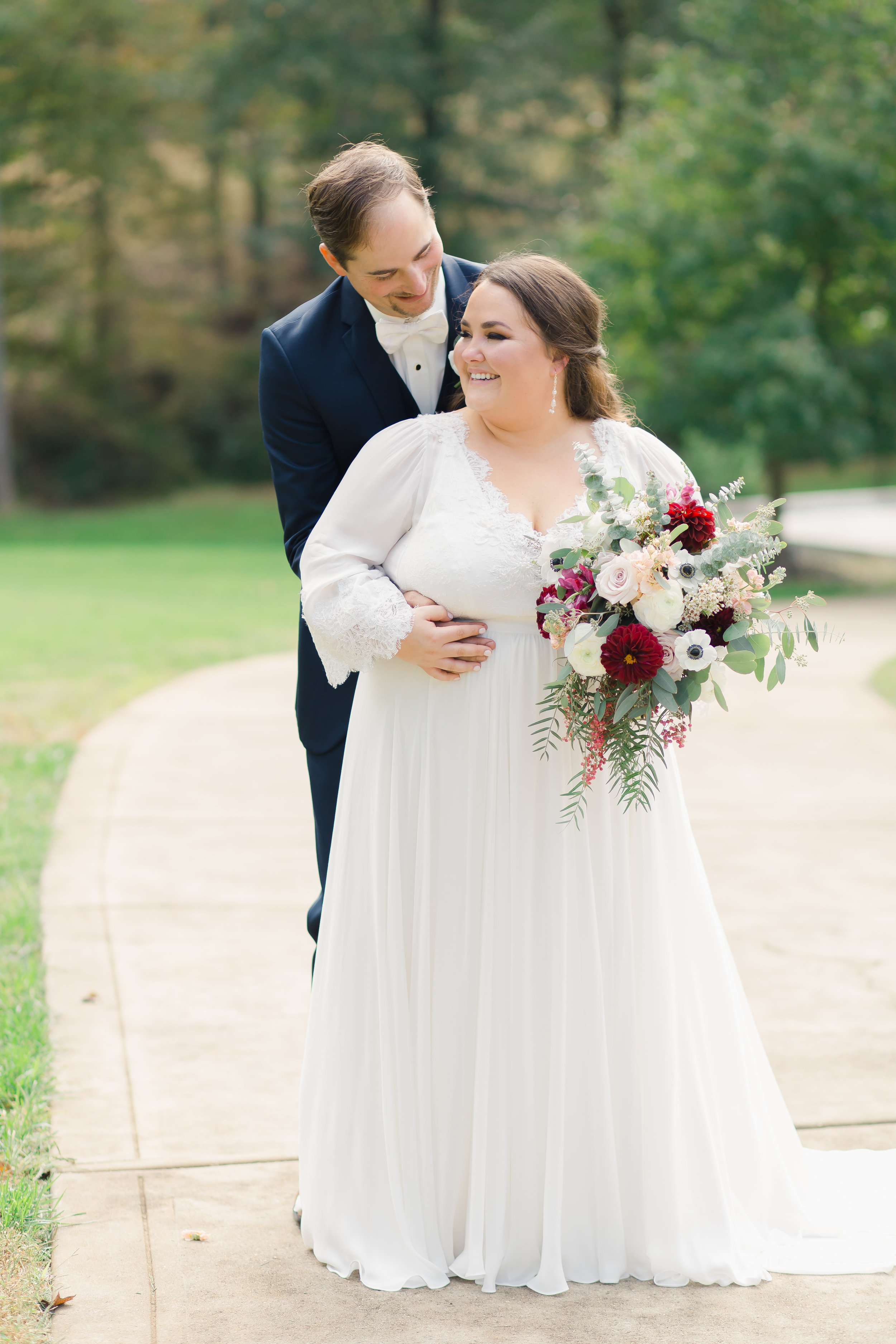 bride and groom portraits charlotte nc