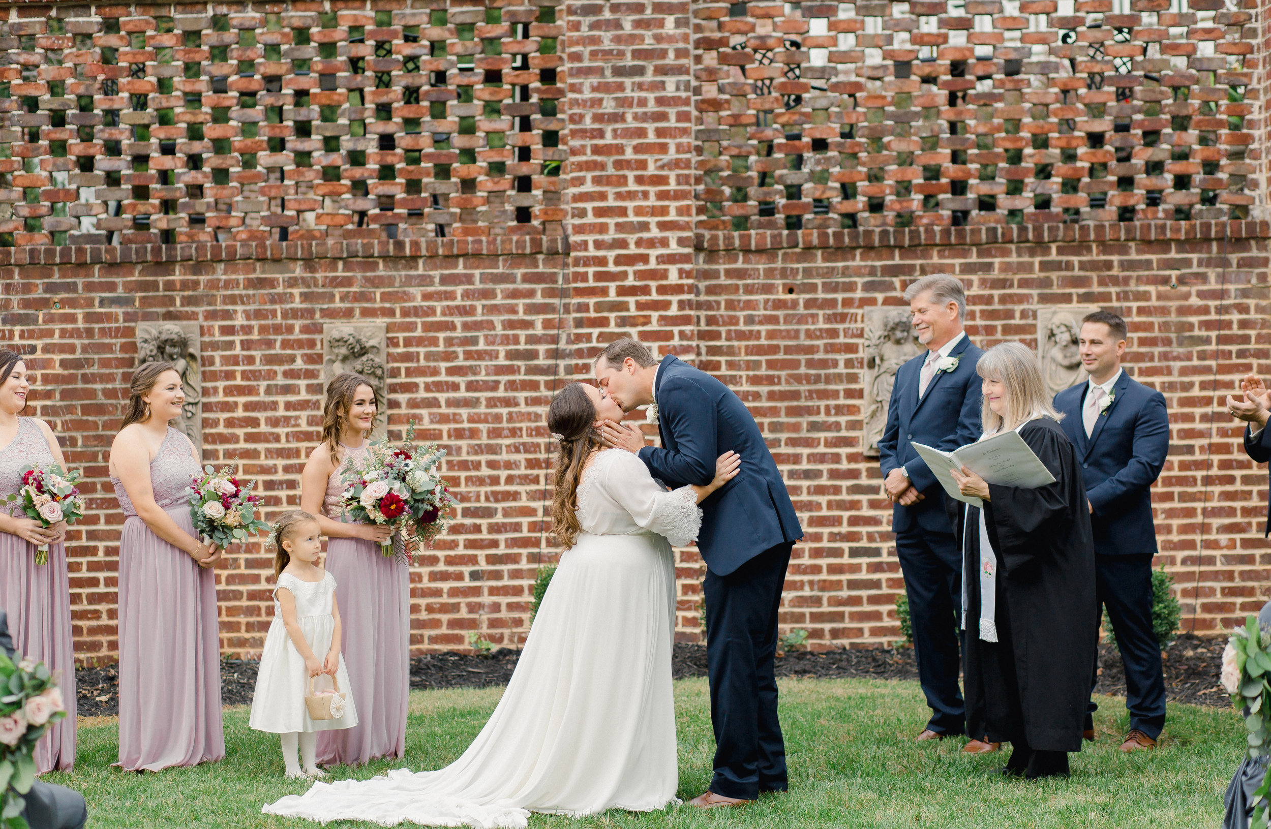 ceremony at Johnson Carriage House
