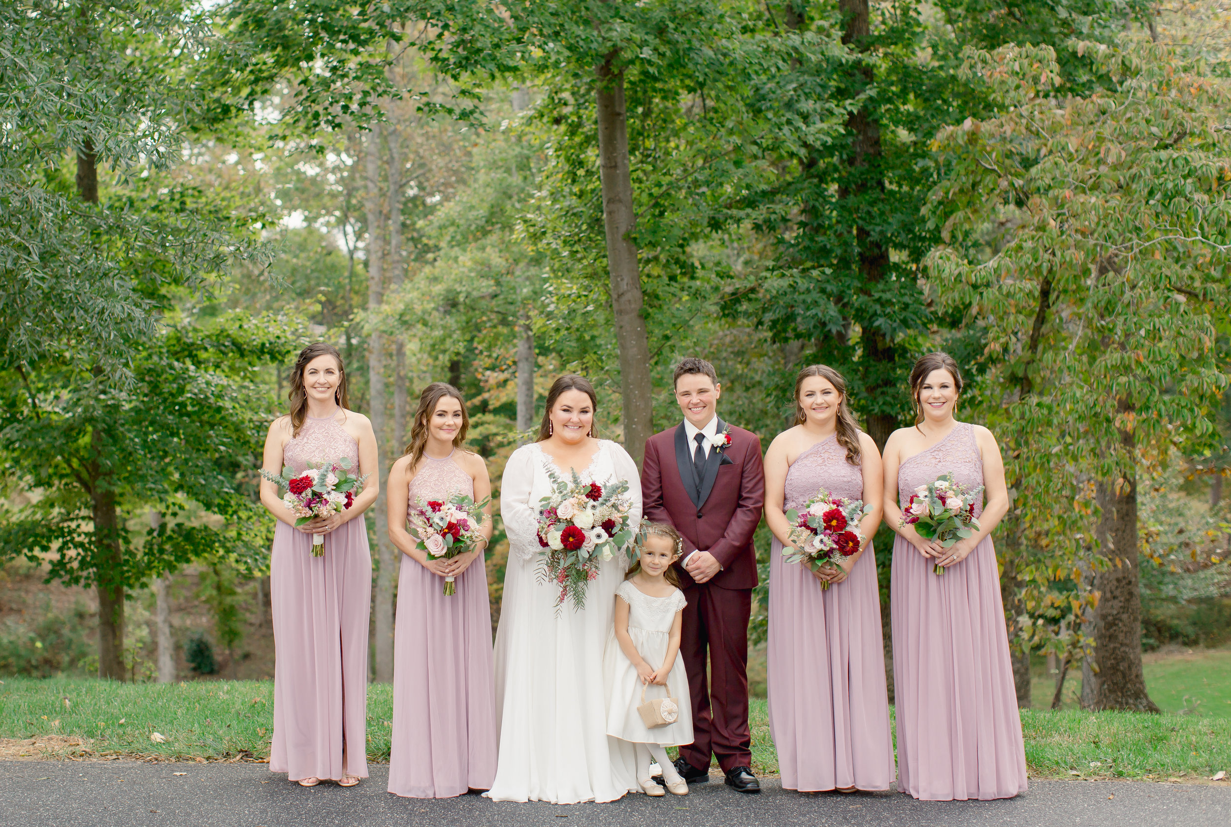 Bridesmaids at Johnson Carriage House