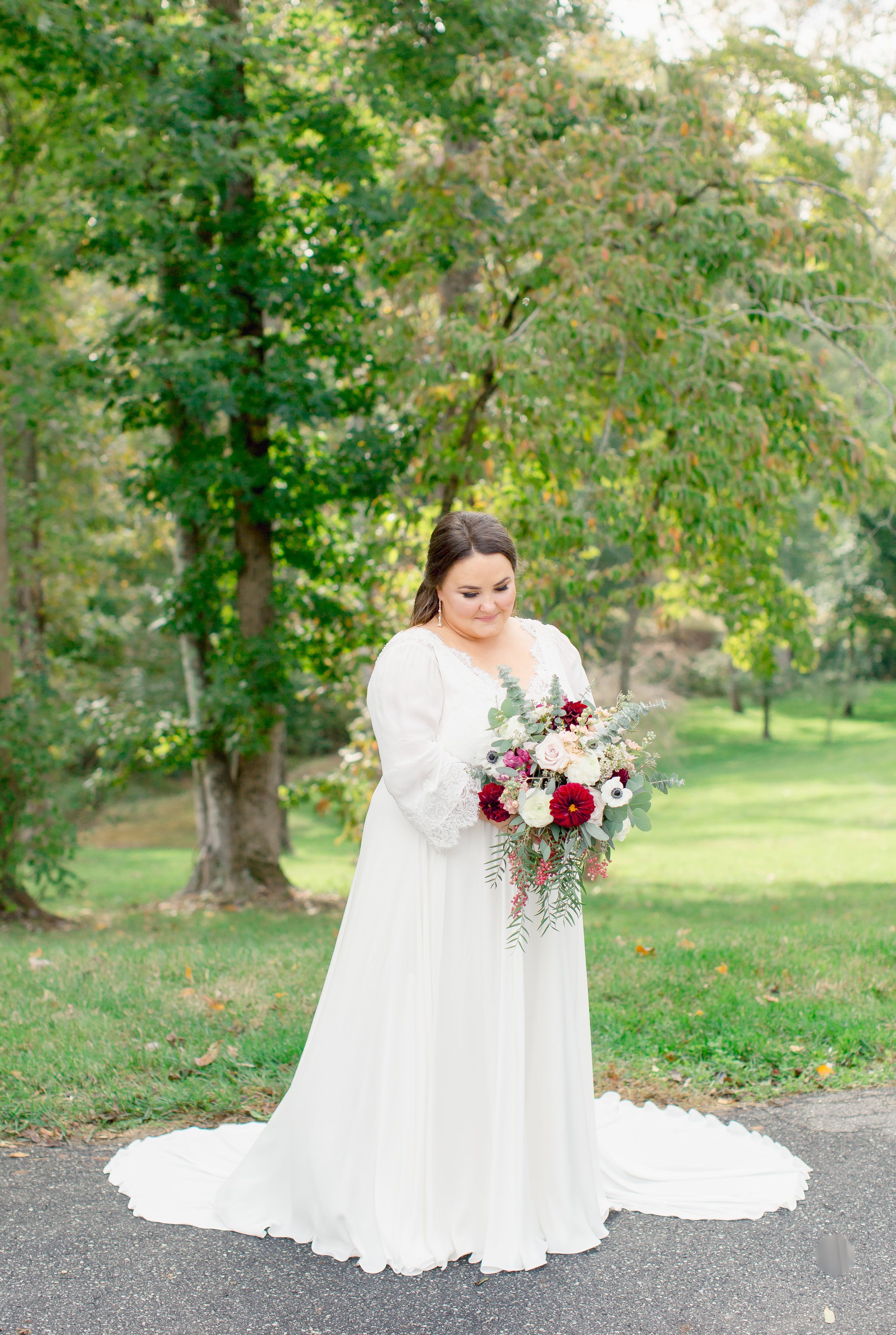 bridal portrait at johnson carriage house
