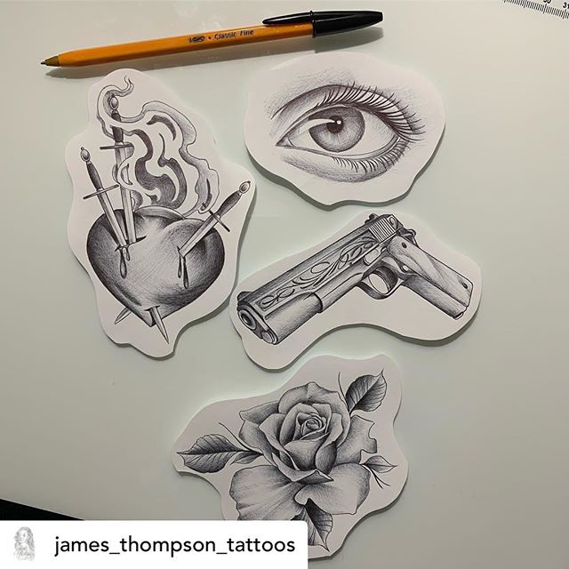 @james_thompson_tattoos has got these awesome little bangers available, he's got a couple of spots in the coming weeks send him an email to make a booking