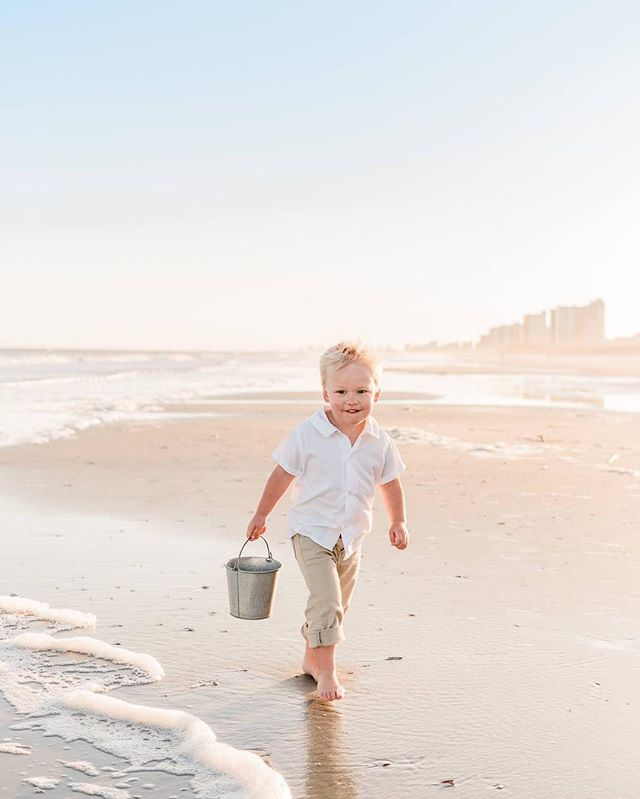 Beach portrait season is here! I'm so happy to have warmer weather and evenings down on the beach.