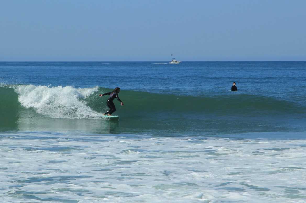 Surfing the beautiful beaches of North San Diego.