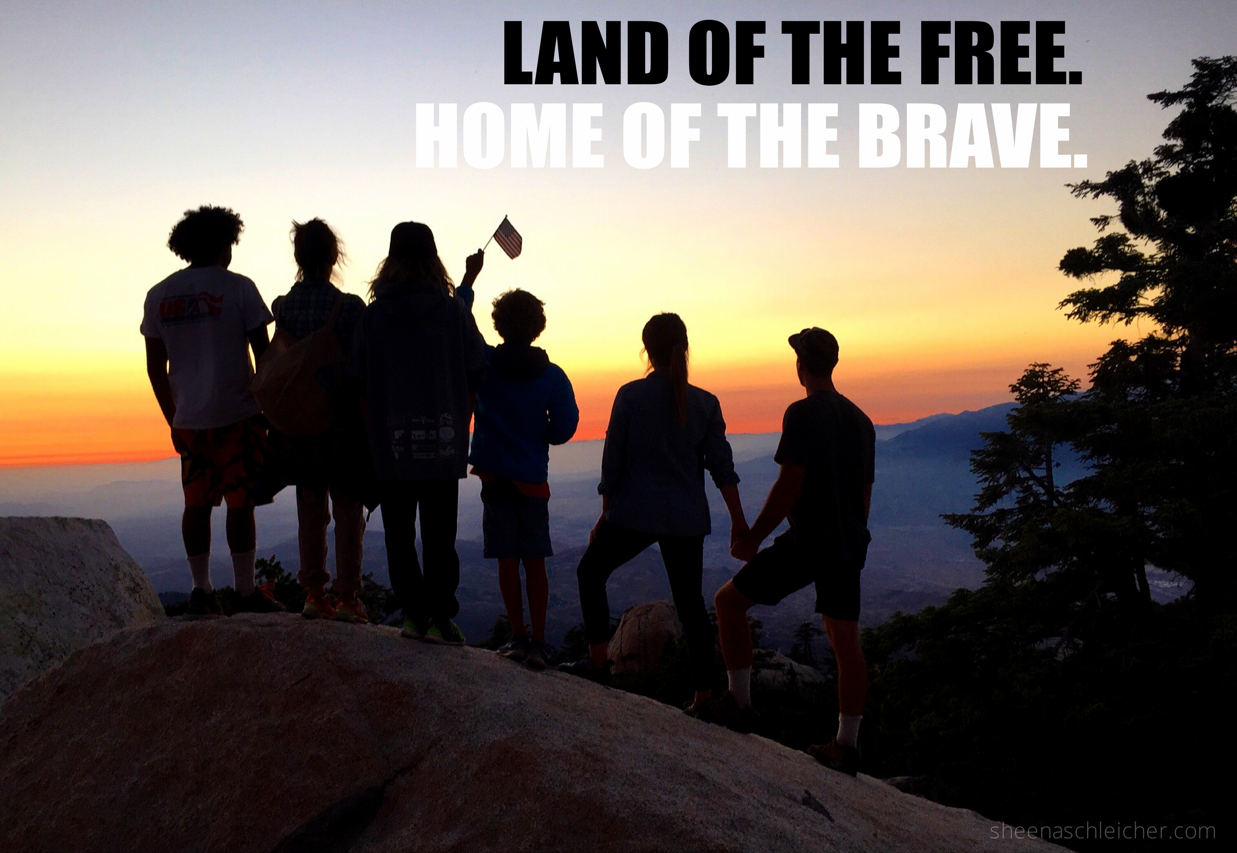 Land of the Free. Home of the Brave. Happy 4th of July!