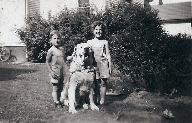 Paul and Carolaine with [dog's name]