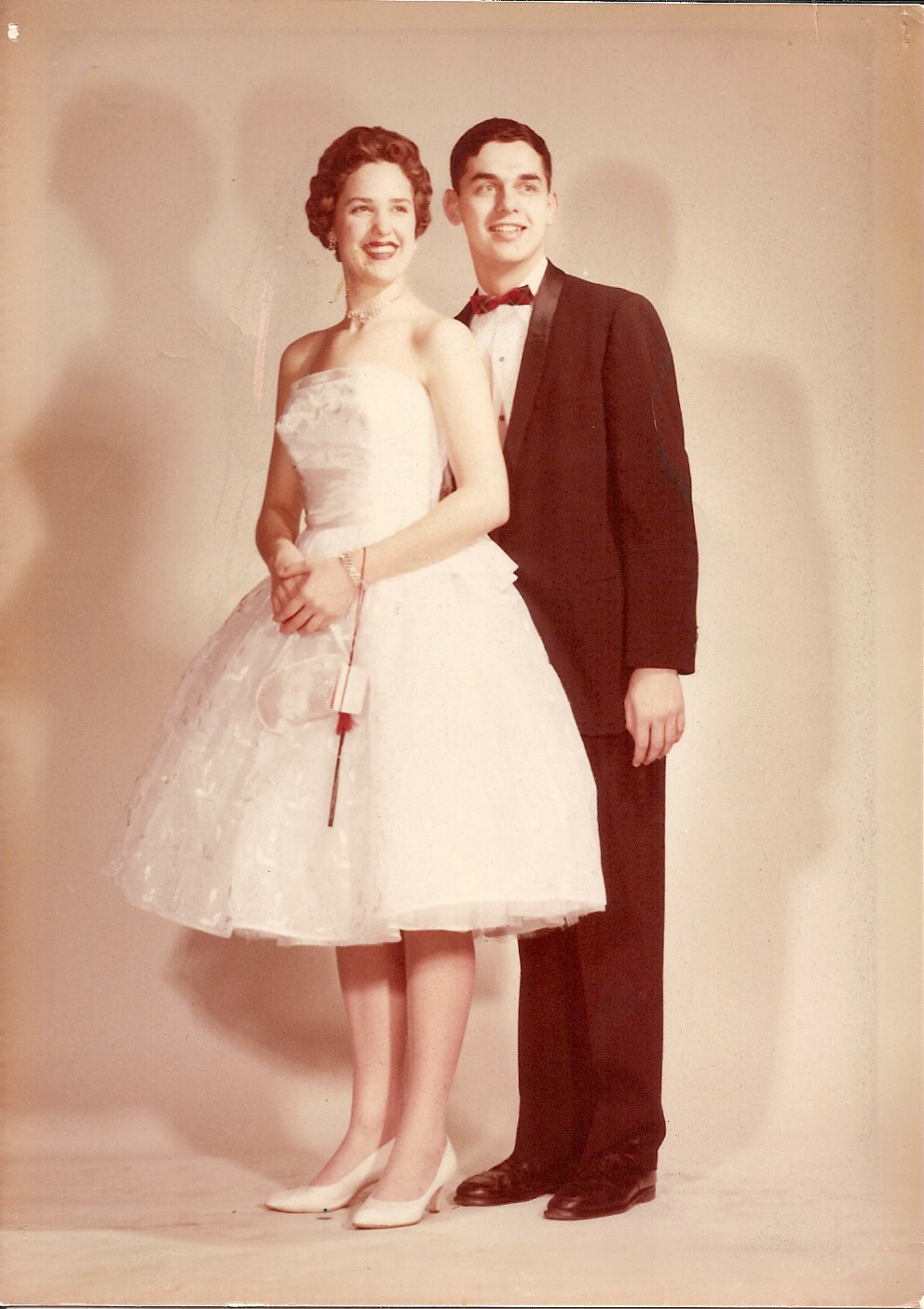 Carolaine with High School boyfriend before the big dance