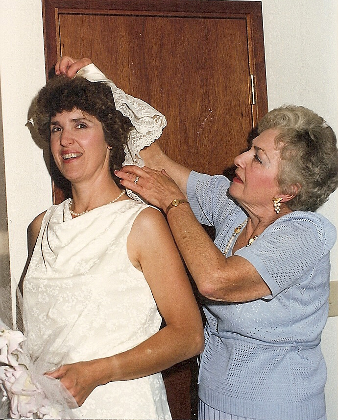 Mom and Carolaine before her marriage to Melvin in 1987.
