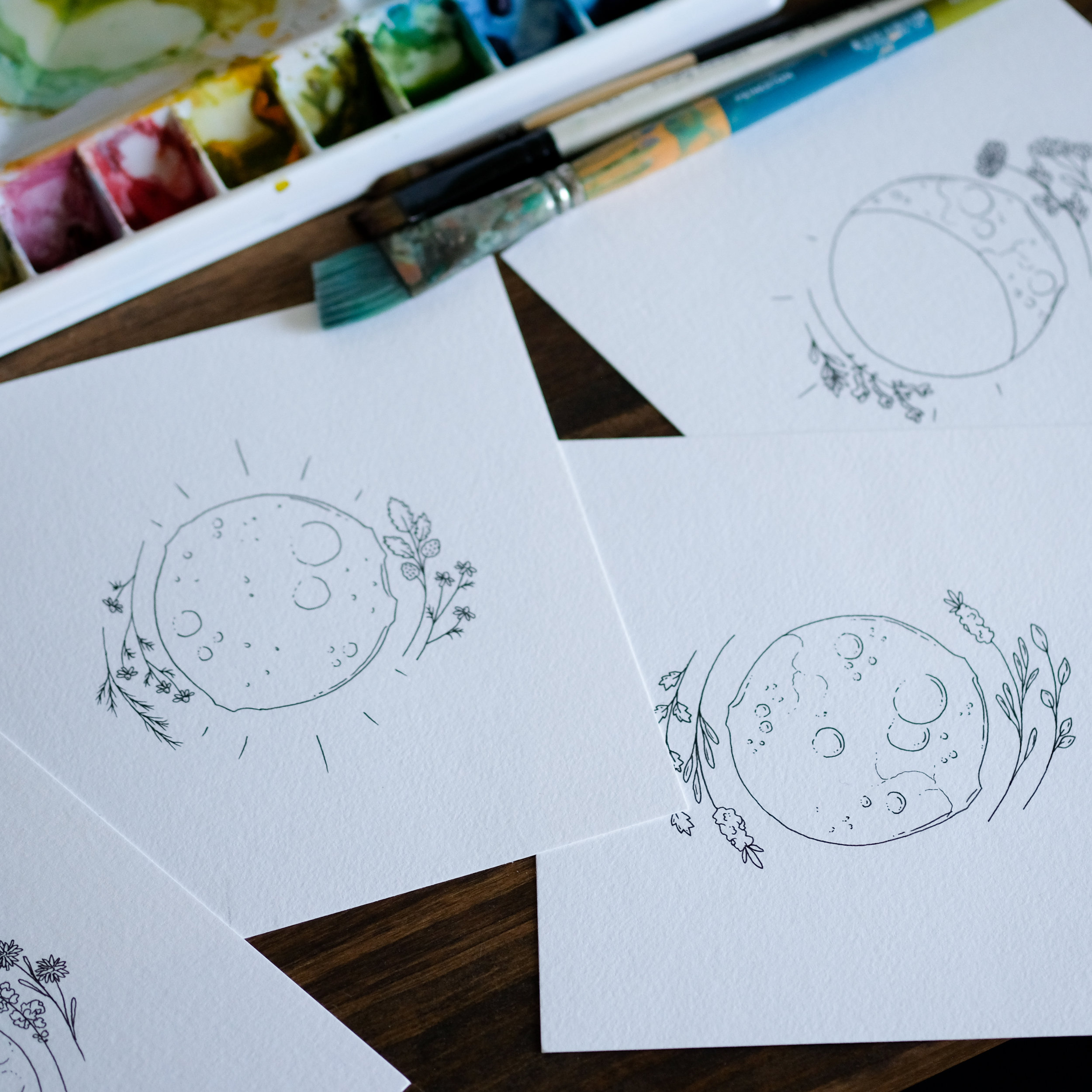 The Lunar Tea Co. illustrations.