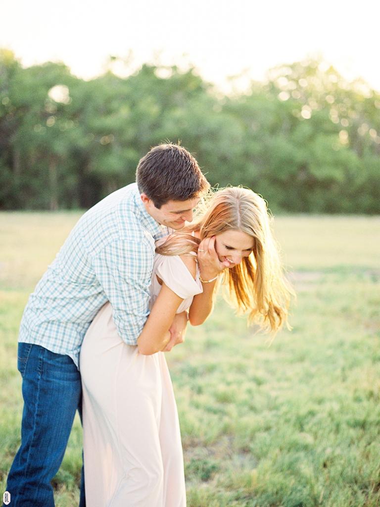 playful engagement photos