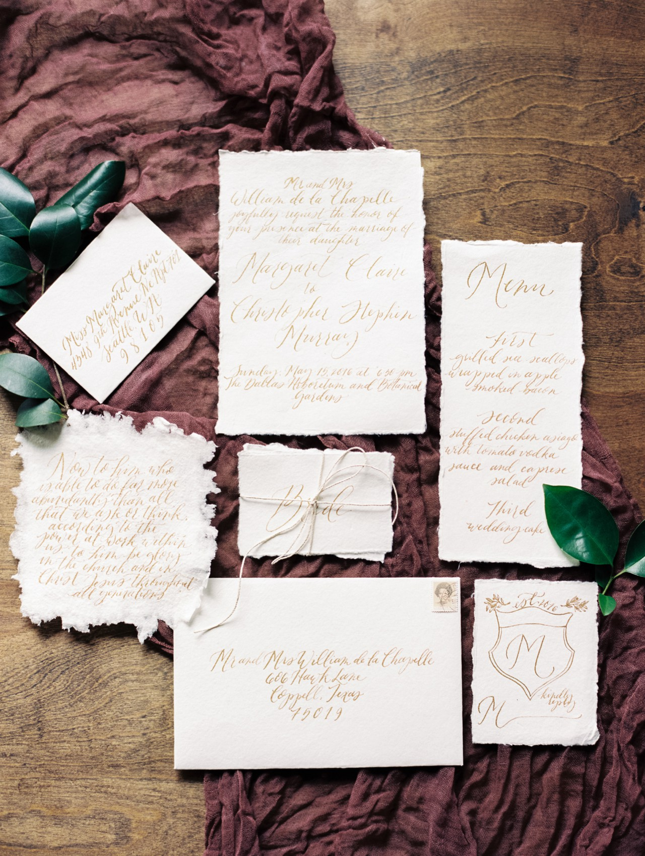 Fig and Flourish calligraphy