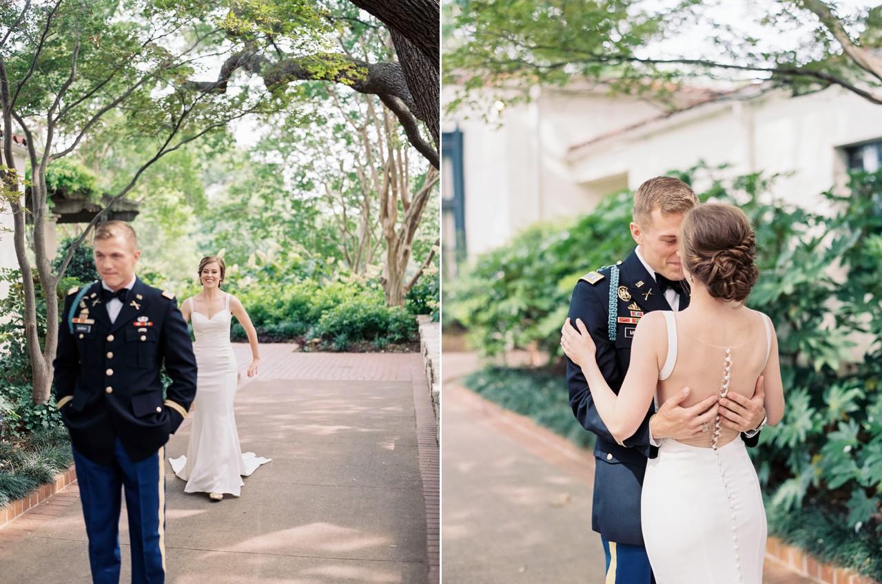 Classic blush arboretum wedding