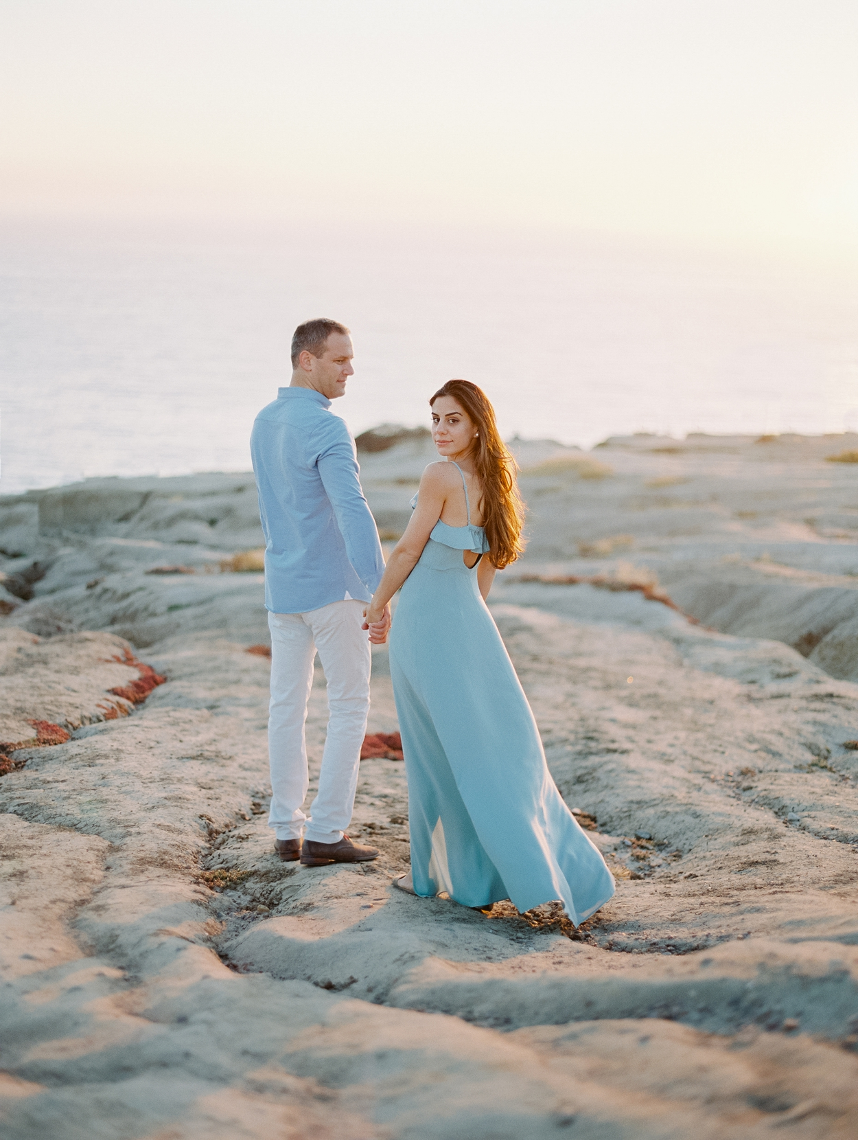 Cliffside engagement Session