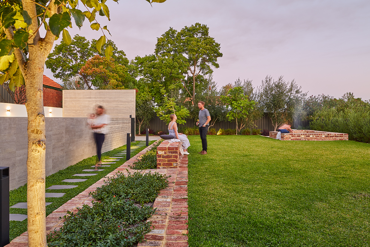 Seedesign Studio Landscape Architecture Red Brick Garden Recycle pavers