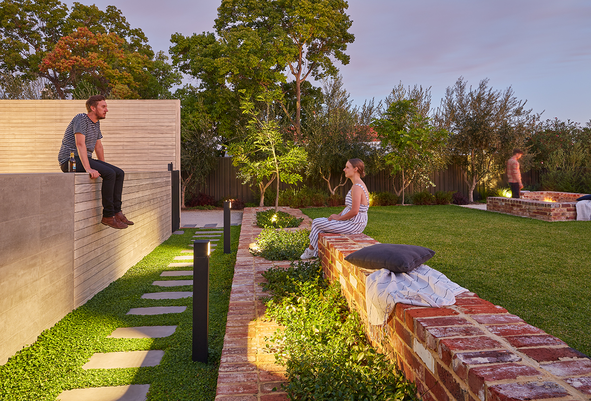 Seedesign Studio Landscape Architecture Red Brick Garden Seating Wall