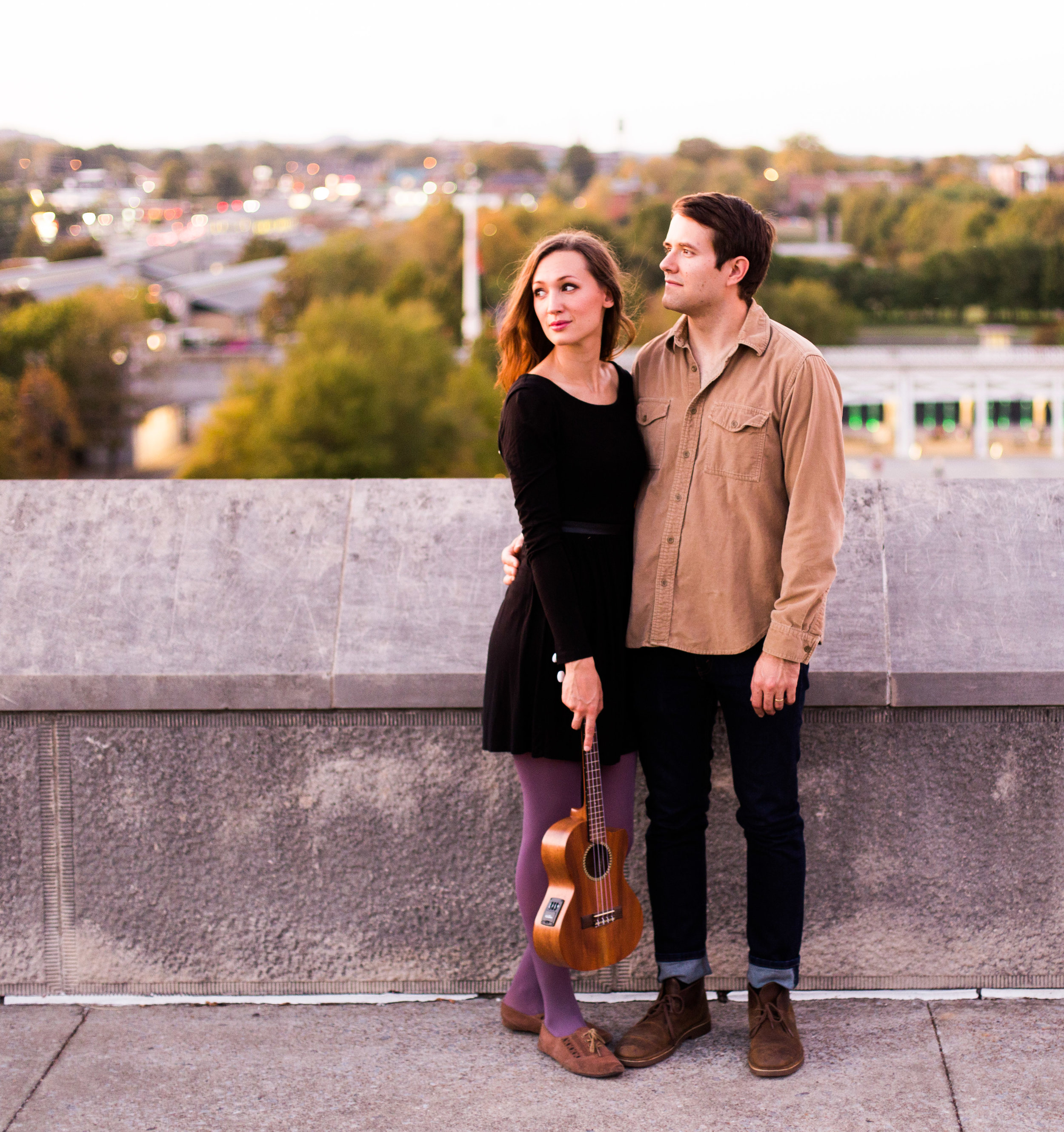dreamy engagement photography nashville tn; harvest sound artist austin and courtney great nashville musicians bicentennial park capitol hill