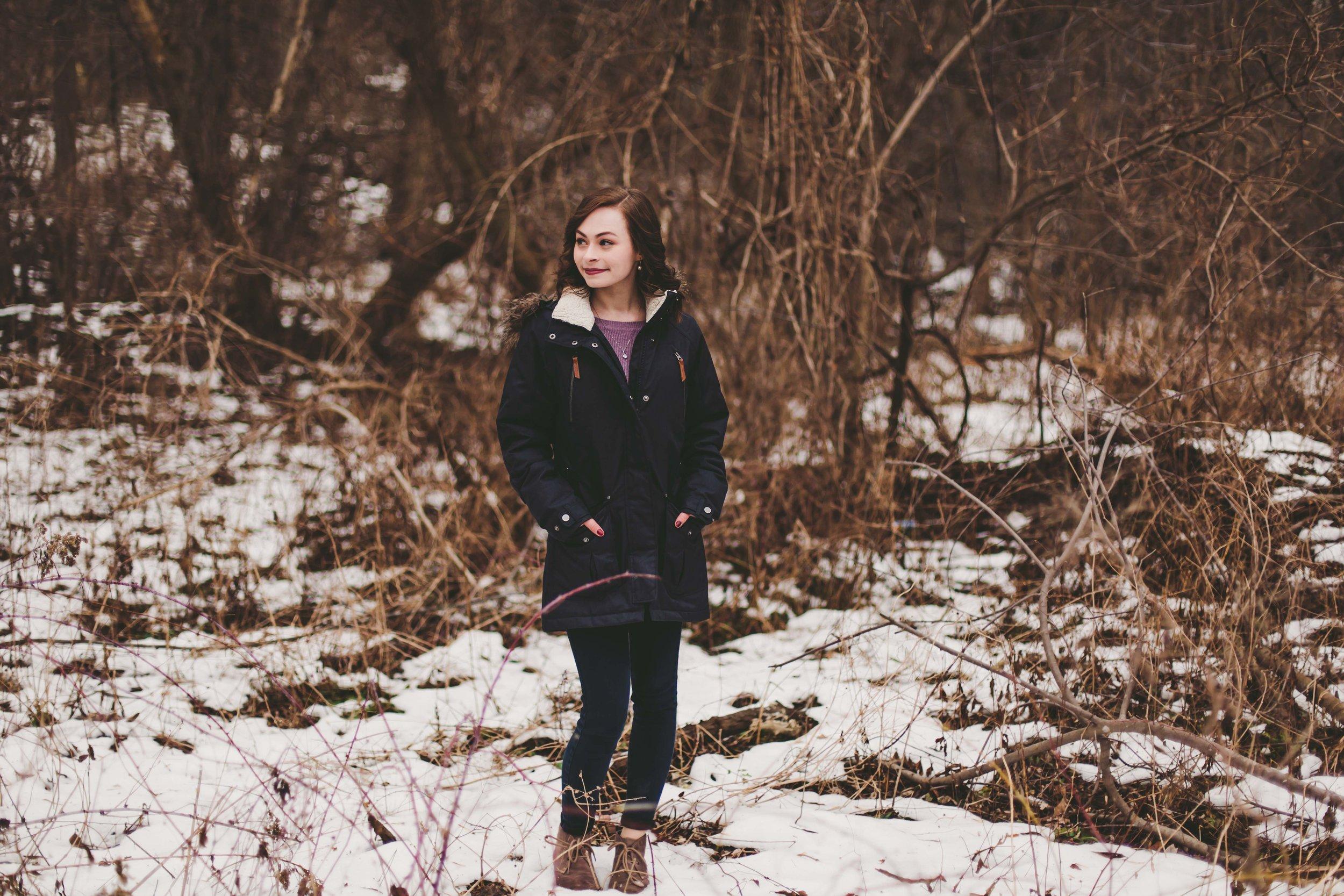 winter photoshoot in london england by Nashville Senior portrait Photographer Emily Anne Photography