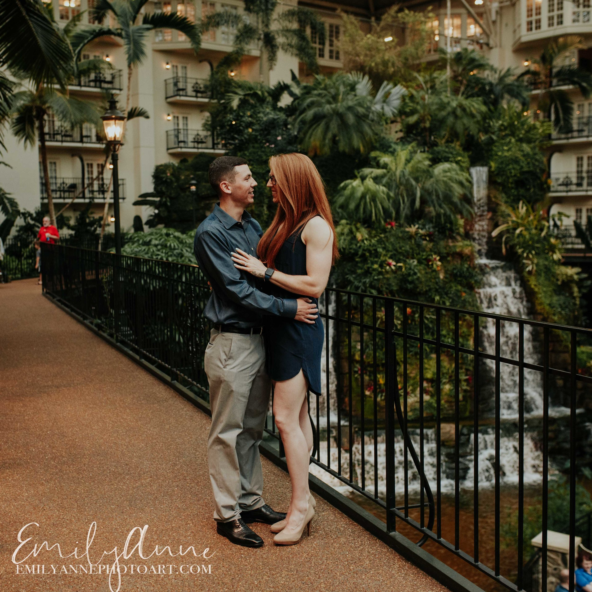 dreamy engagement photoshoot opryland hotel nashville wedding travel elopment photographer emily anne photo art