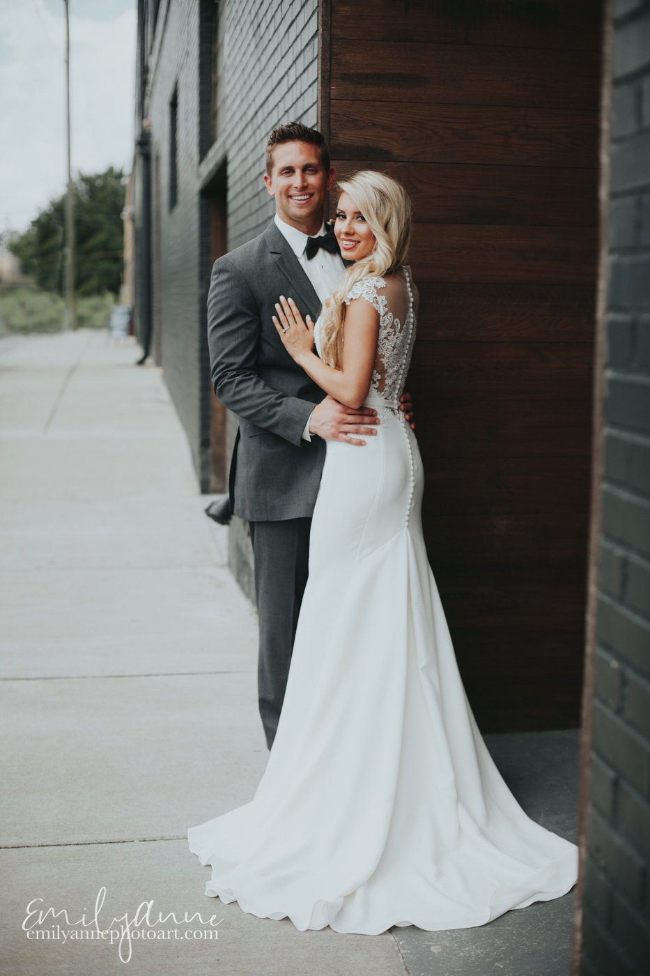 Adorable wedding photos on Clinton Street At Foundry Events in Nashville TN by Best Nashville Wedding Photographer Emily Anne
