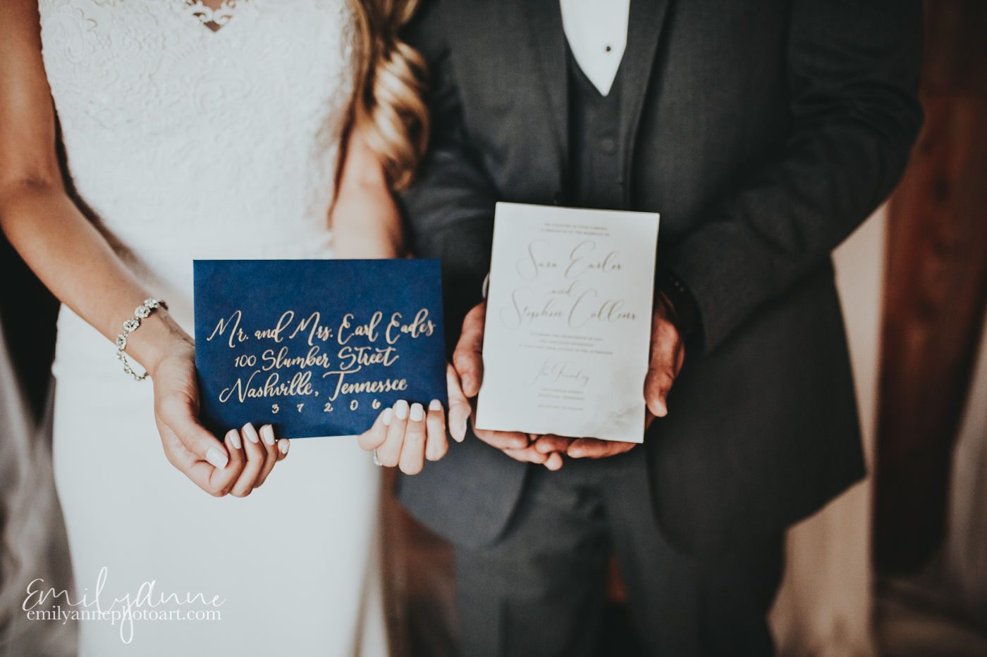 beautiful wedding calligraphy by white ink calligraphy and Darby cards; inspirational wedding card images by wedding photographer Emily Anne Photo Art