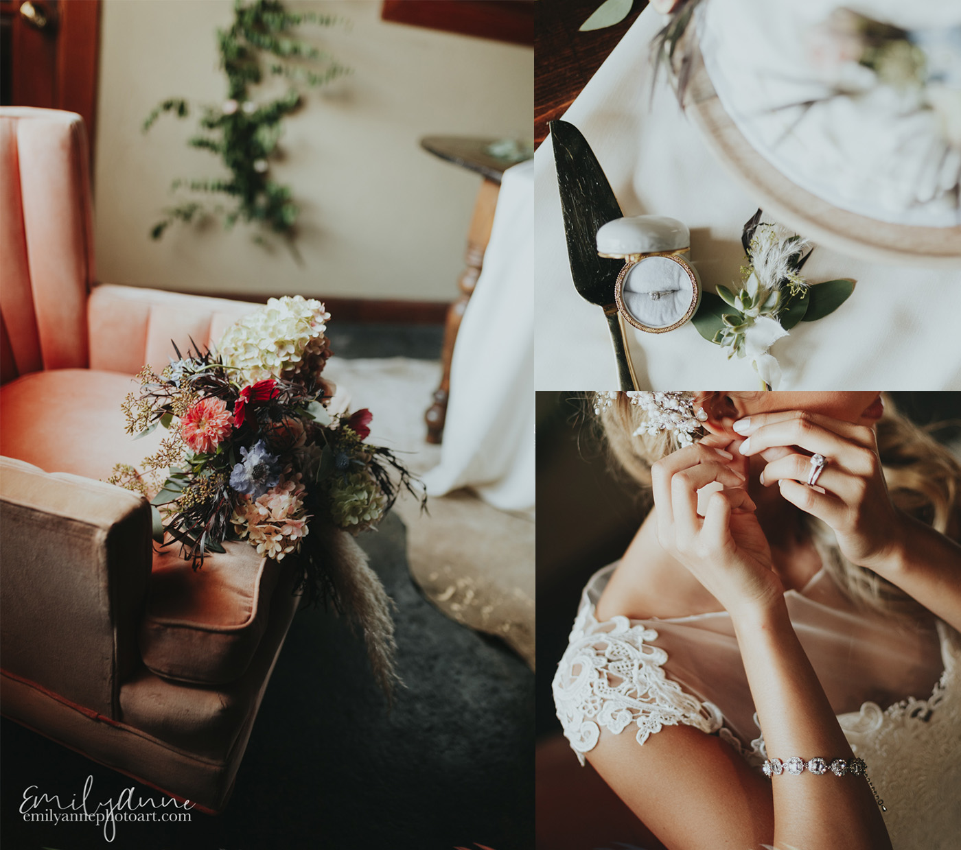 gorgeous color palette for fall wedding