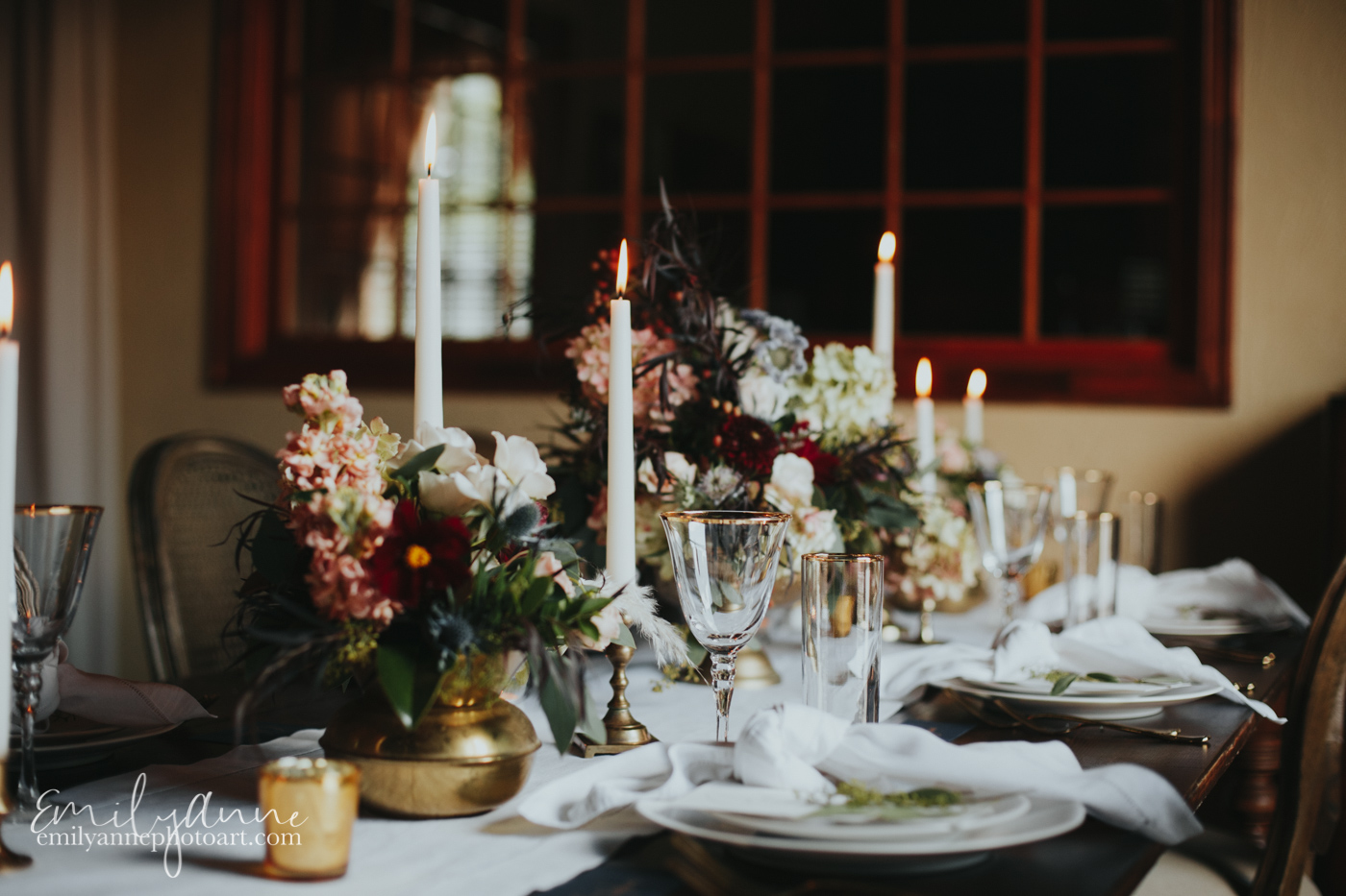 feast for a king gorgeous table set for wedding elopement foundry events Nashville tn by travel/elopement photographer Emily Anne