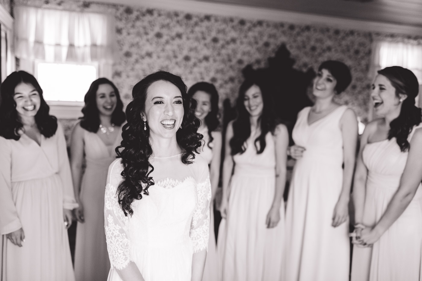 beautiful bridesmaids and the brides