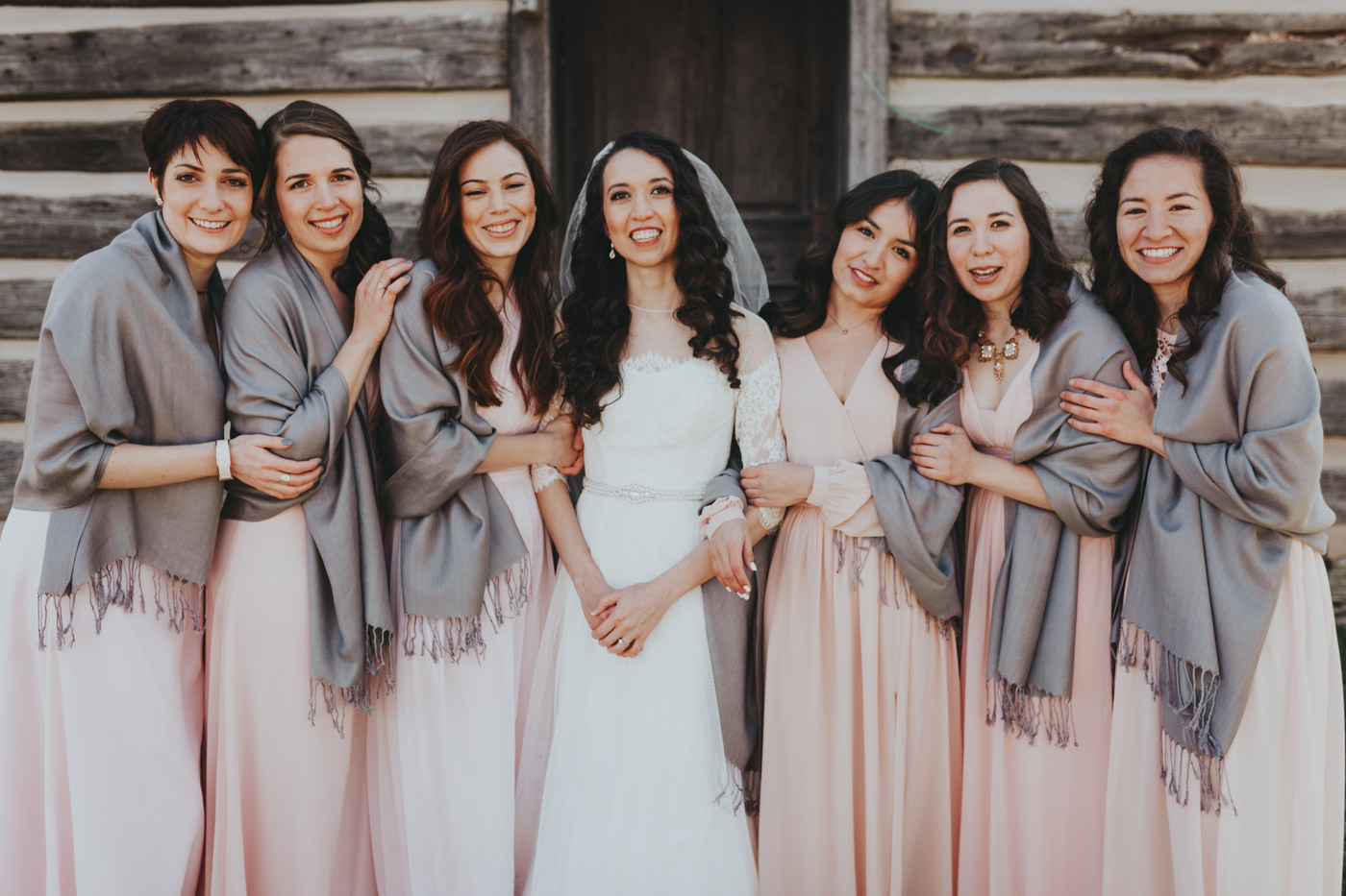 bridesmaids smiling top wedding photographer destination travel photographer Florida/ Barcelona Spain from Nashville TN