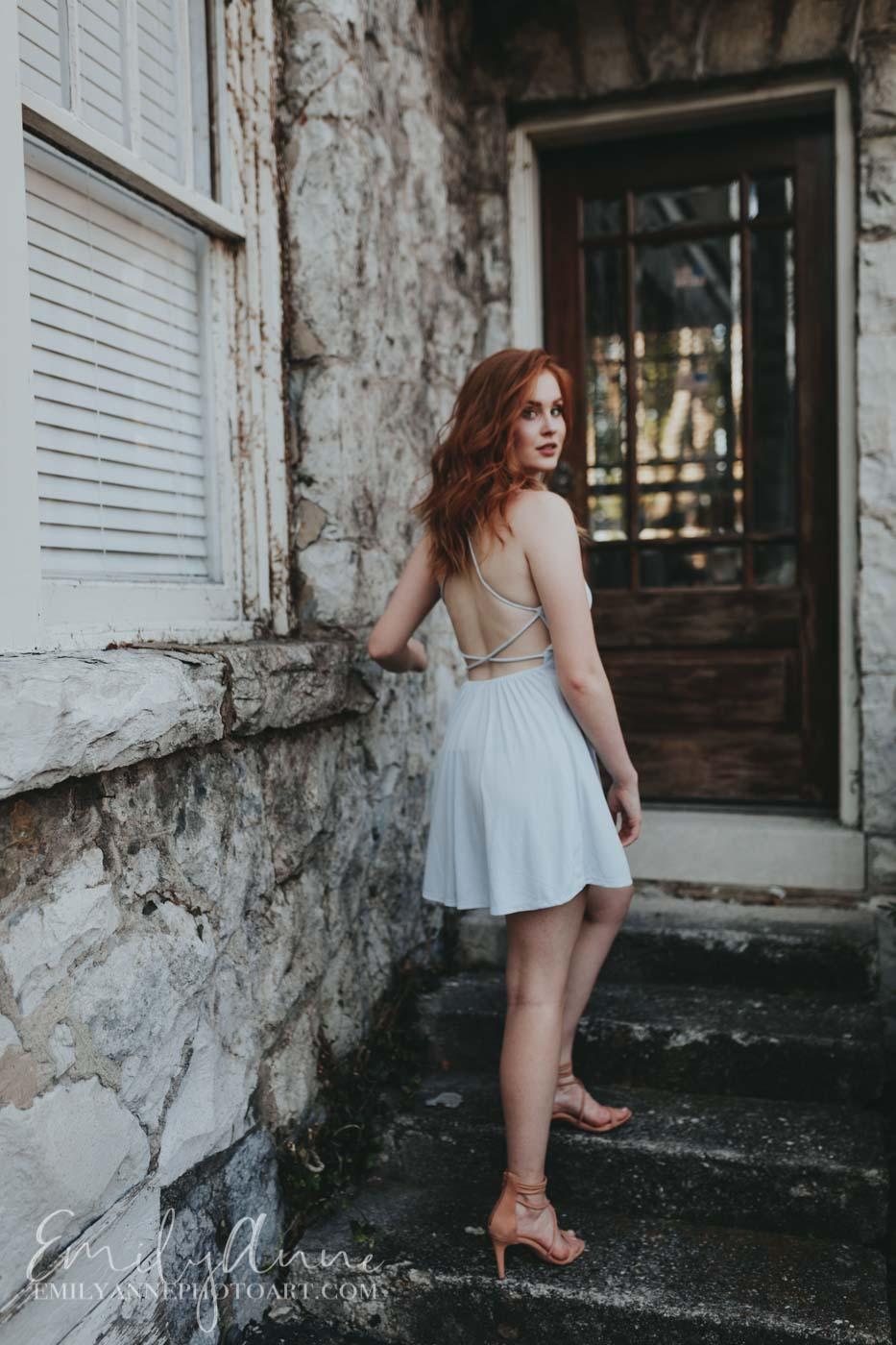 Downtown Franklin/Nashville Model photography Emily Anne