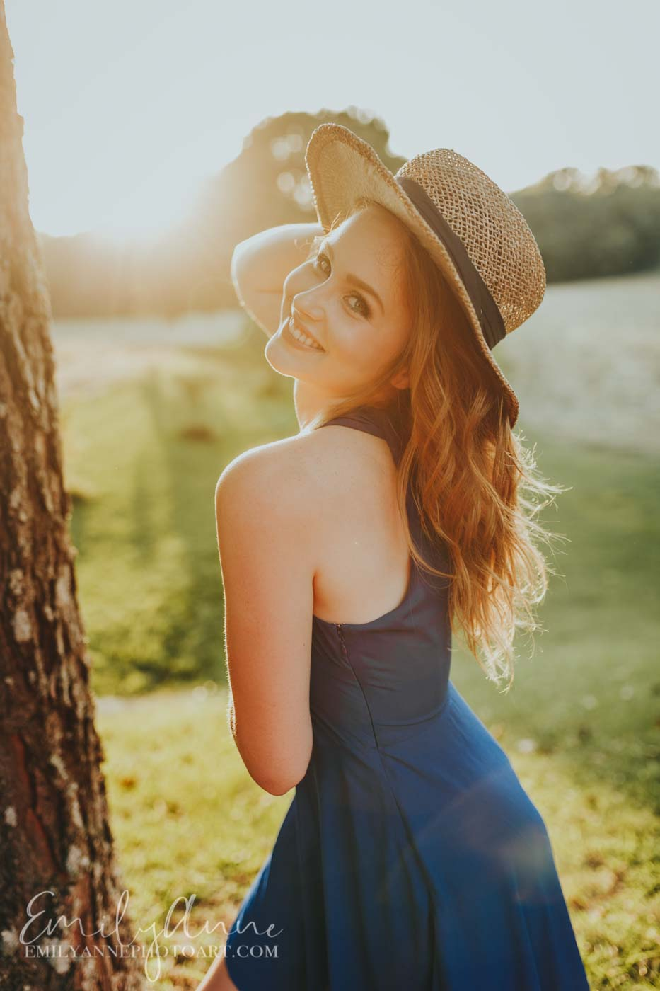 golden gorgeous sunset senior portraits like Anne of green gables by Emily Anne Photo Art