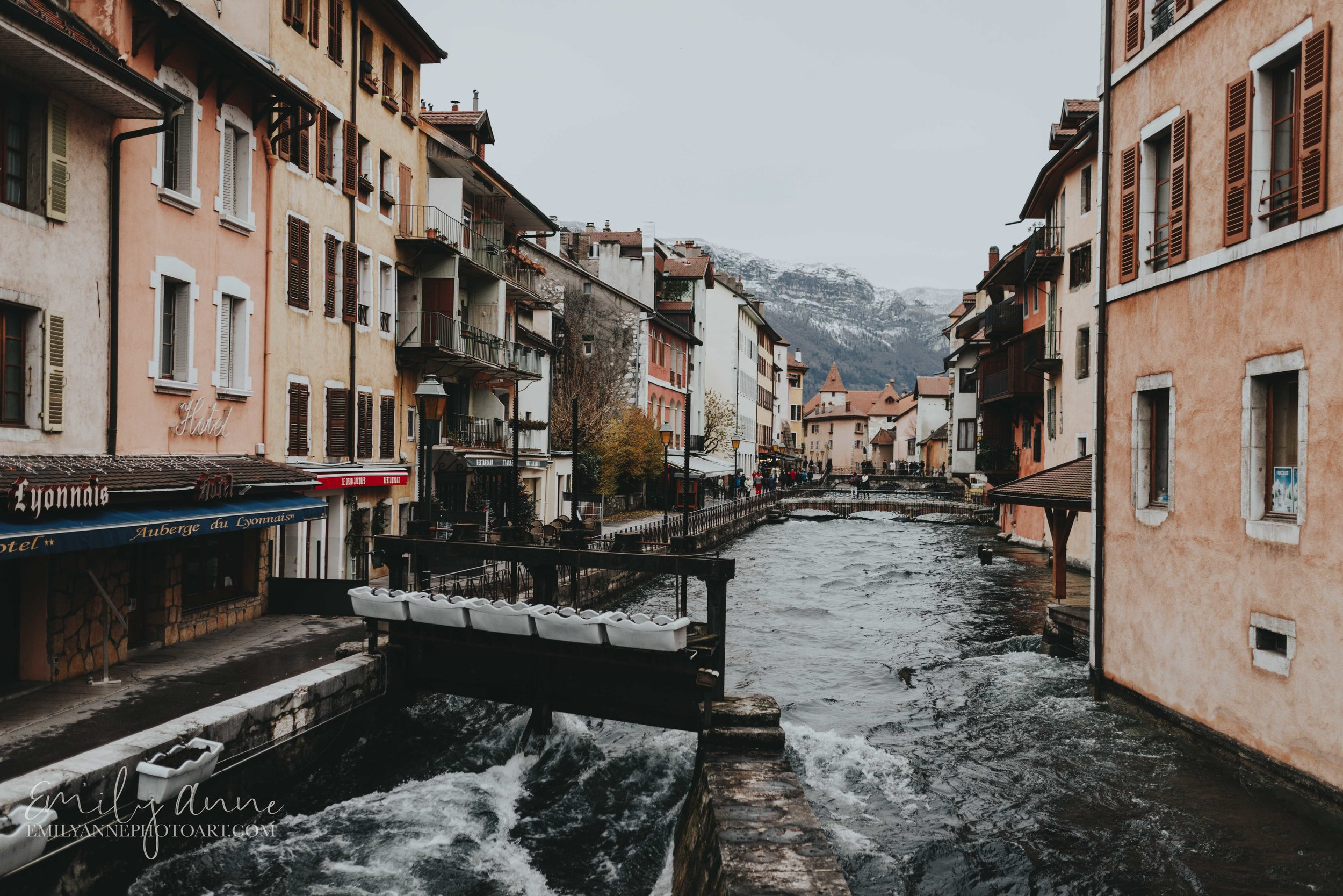 winding river in annecy France by best Barcelona French Nashville Wedding Photographer Emily Anne