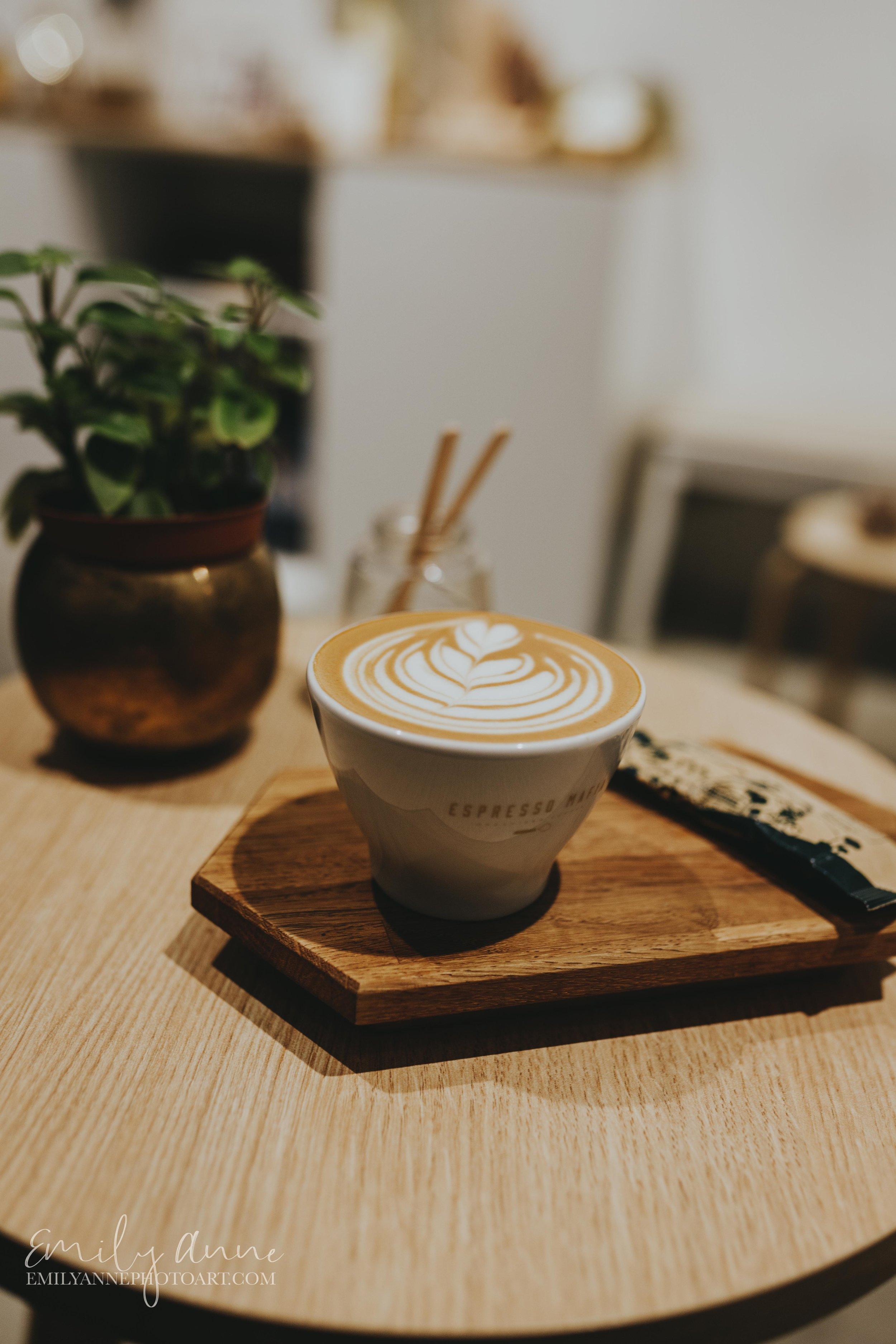coffee latte art by best coffee photographer Nashville Barcelona Emily Anne Photo Art