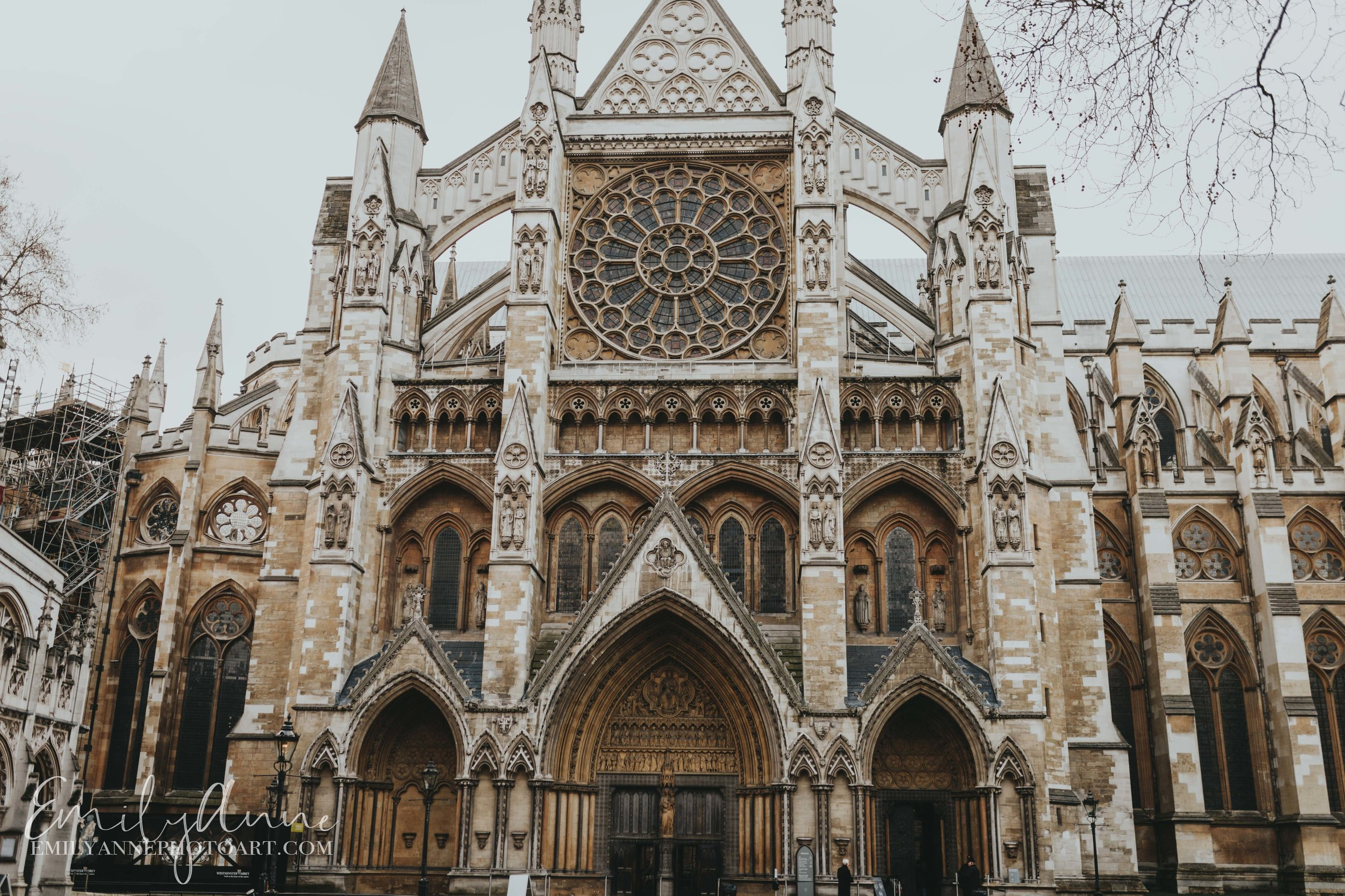 gorgeous church Westminster abbey UK by Nashville European travel destination wedding photographer
