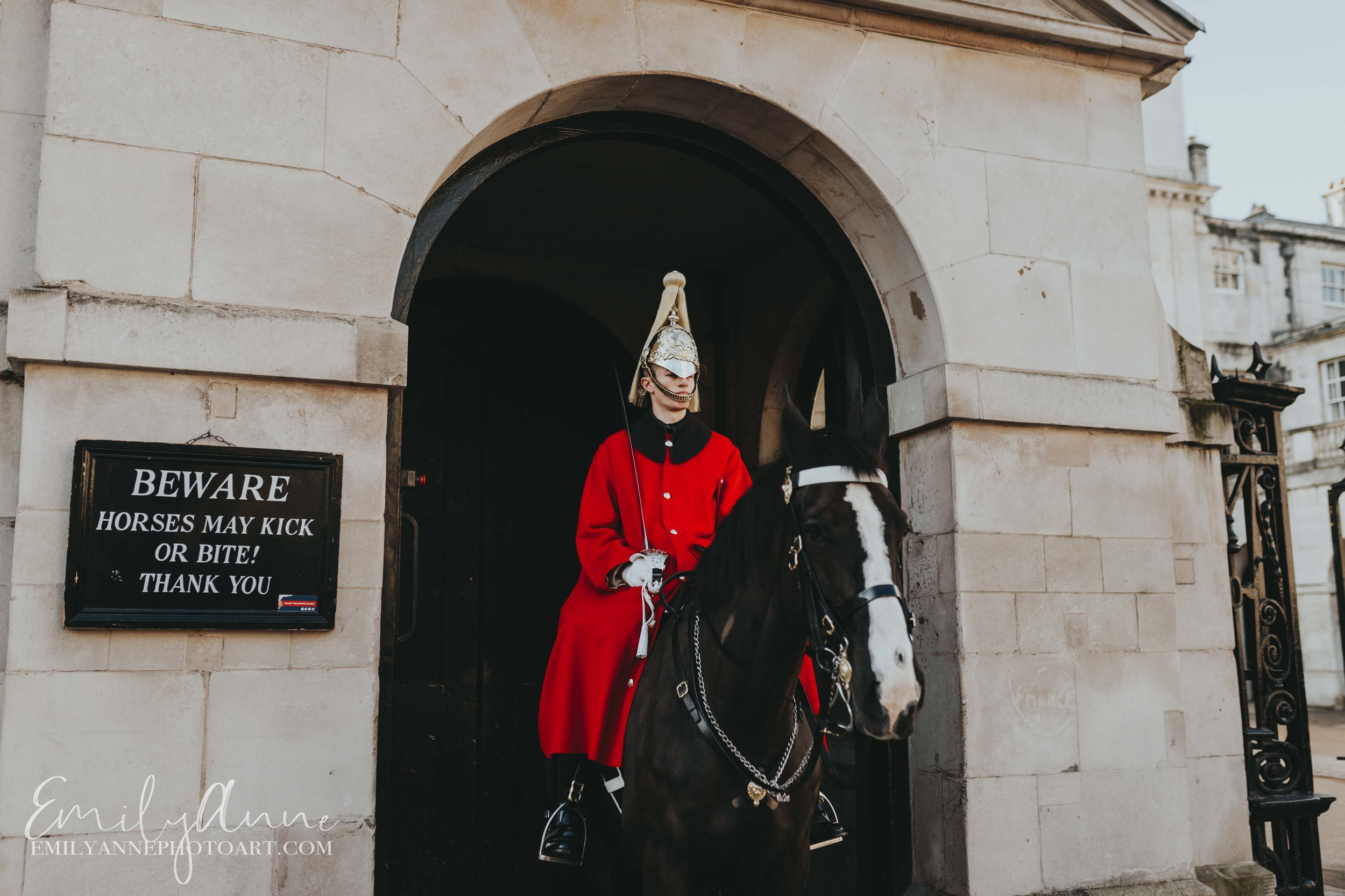 UK London England Royal Guard by Top European Wedding Photographer Barcelona & Nashville Emily Anne