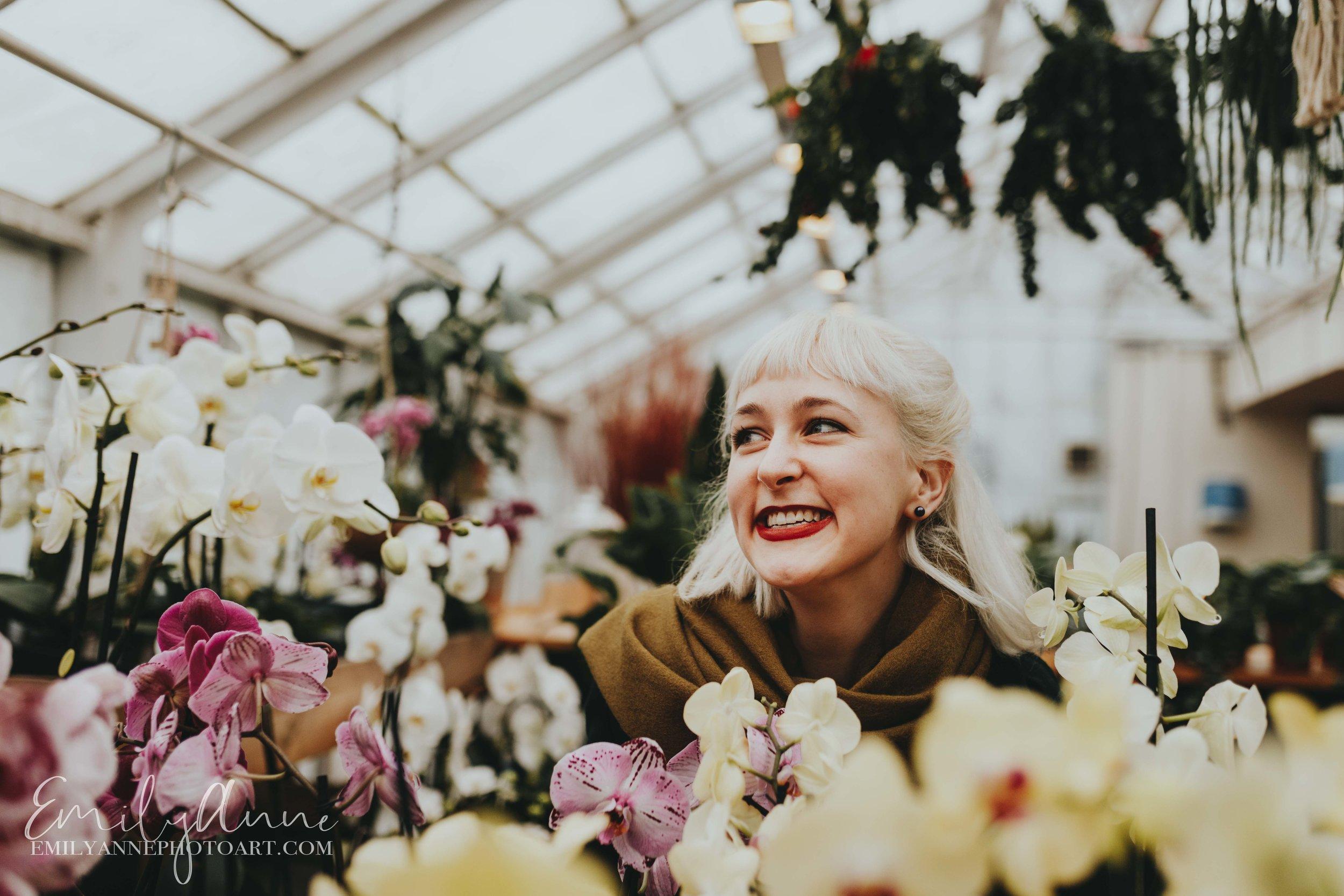 portrait close up best shots shooting in flowers for modeling headshots unique emily Anne photo art