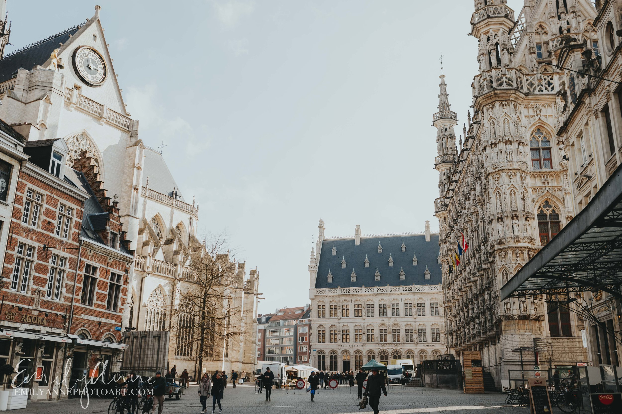 gorgeous town city hall of Leuven by top Barcelona Leuven Wedding Portrait photographer Emily Anne photo art (photography)