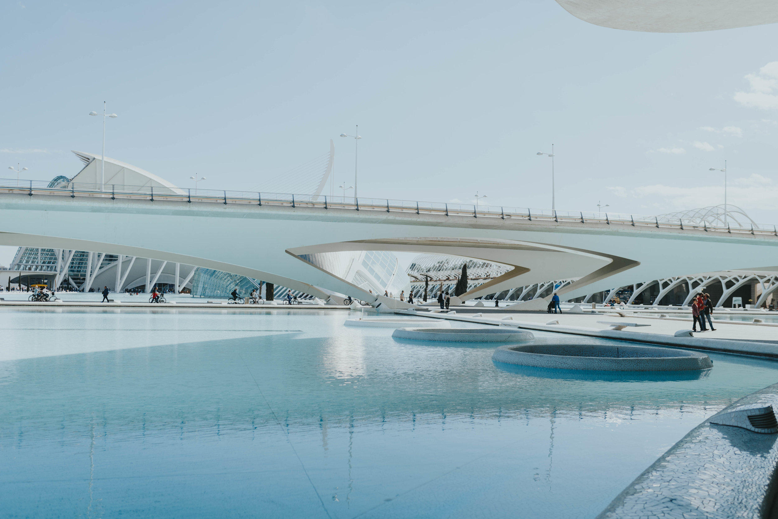 The pools in Valencia Spain during the summer gorgeous things to do on a hot sunny day