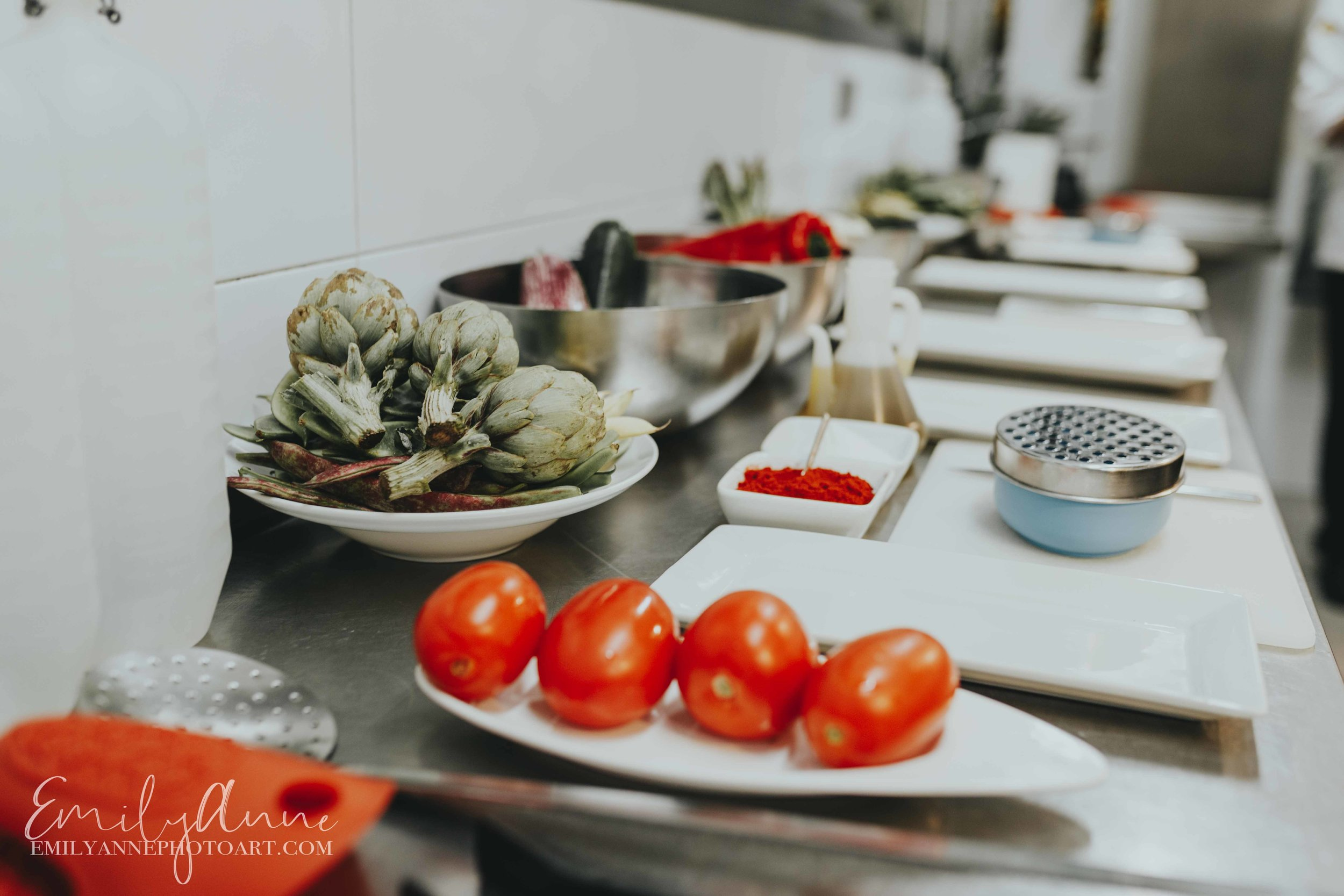 top Nashville food photographer ingredients to make the best paella in Valencia Spain by Portrait Photographer  Emily Anne Photo Art
