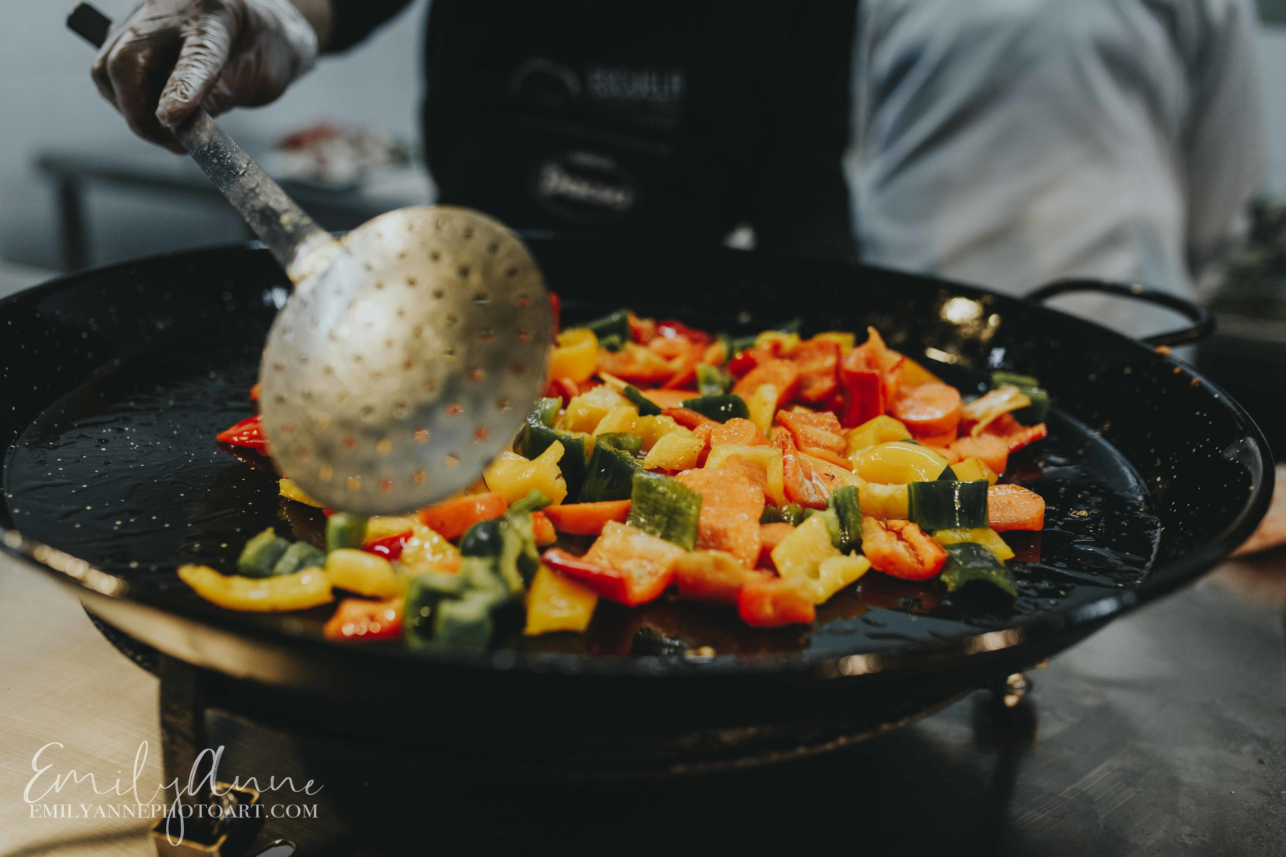 best vegetable paella made authentically in valencia Spain by Nashville Barcelona food photographer