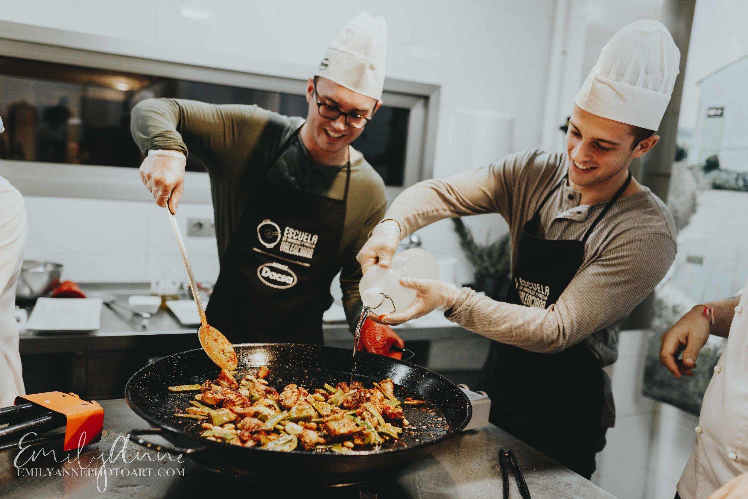 cooking paella school of paella in valencia Spain emily anne photo art