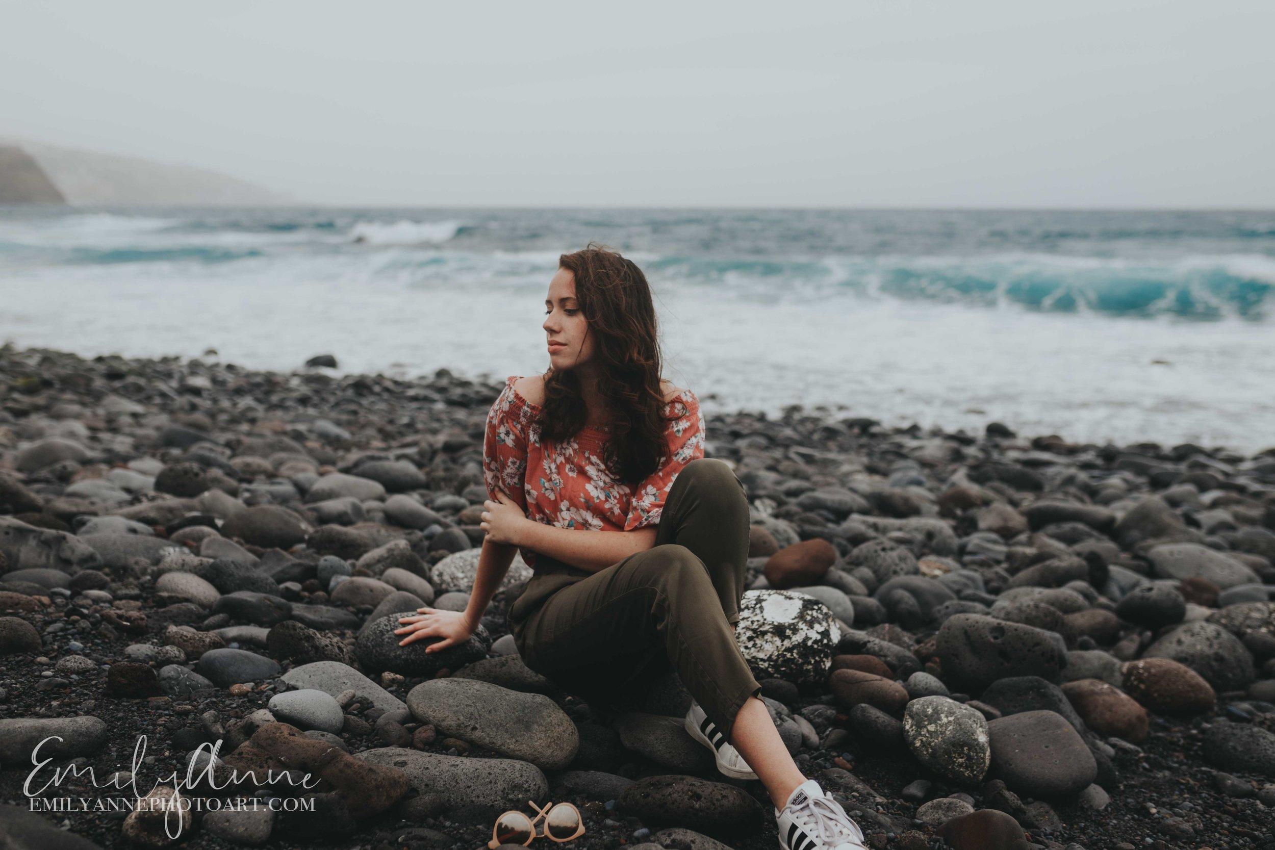 beautiful model portrait shoot tenerife Canary Islands emily Anne photo art