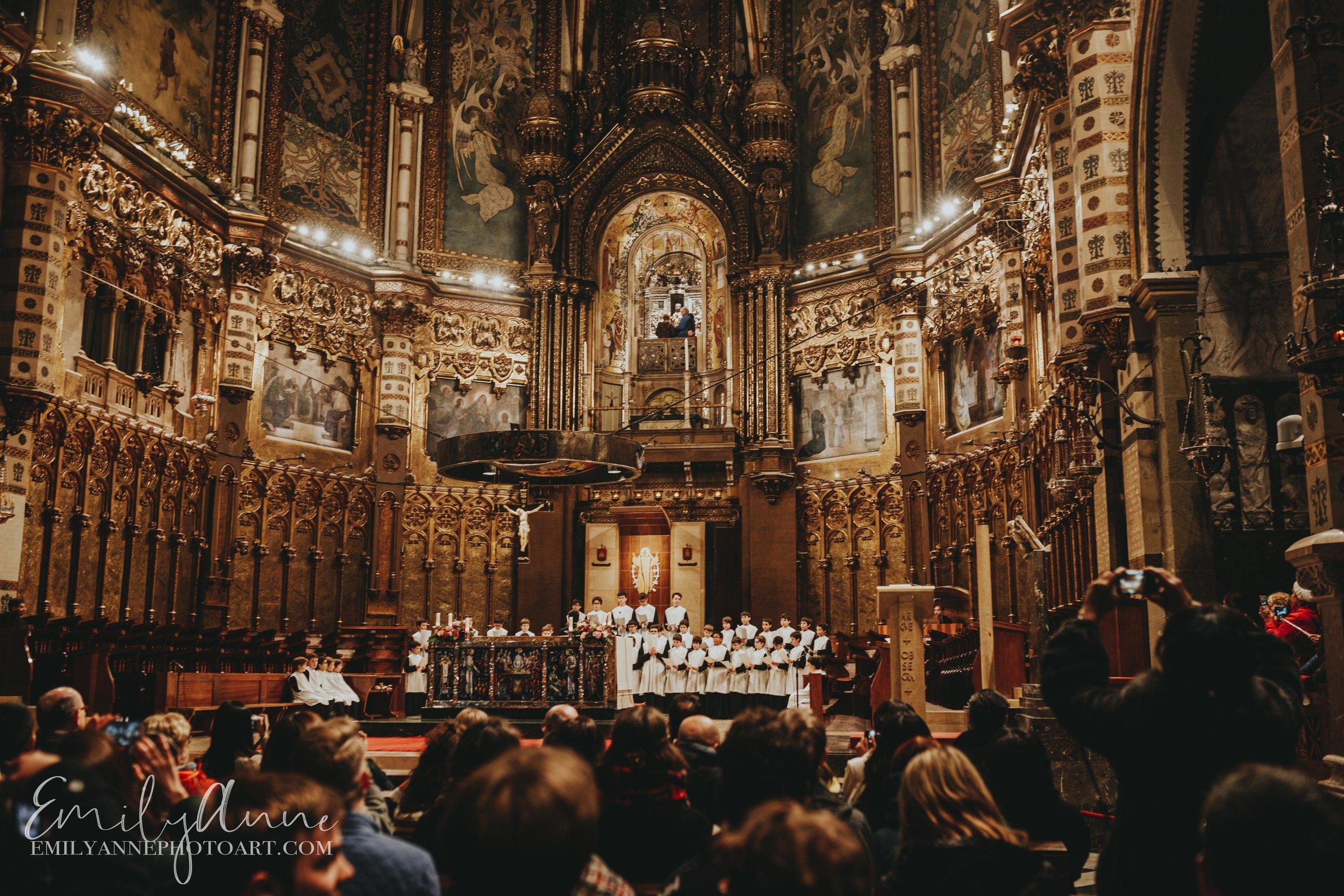 coro de Montserrat de nines; boys choir Montserrat Spain best Barcelona Nashville photographer emily Anne photo art